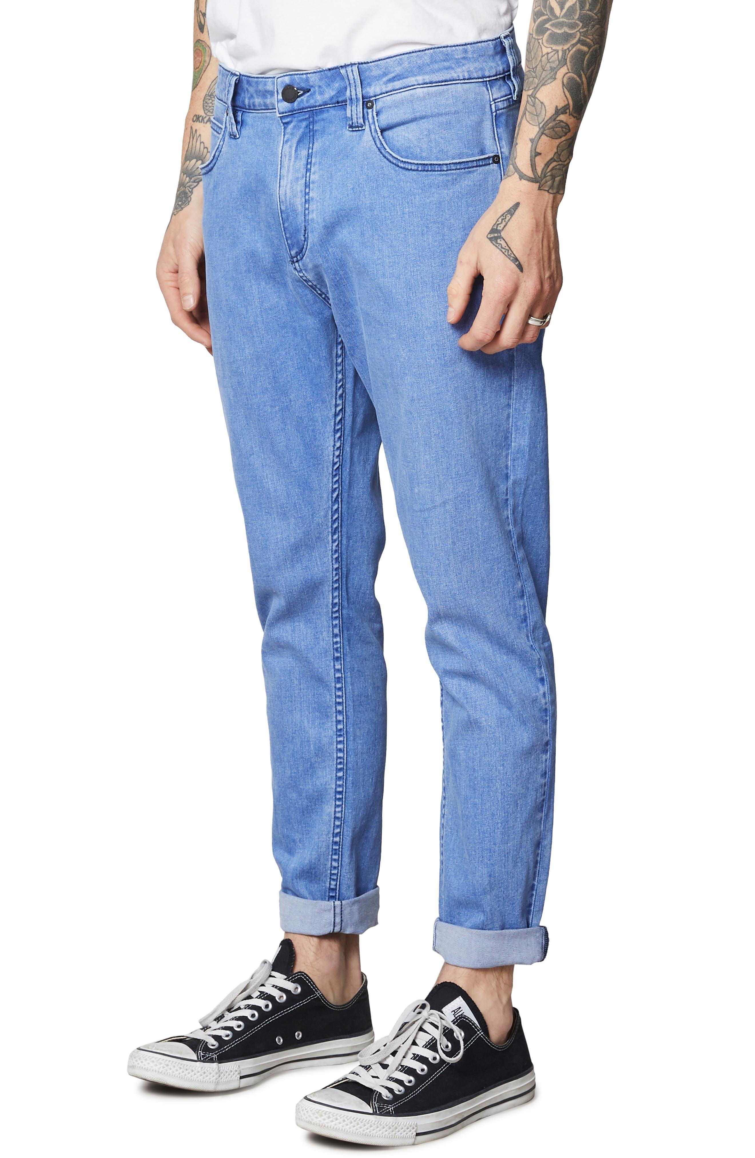 Rollies Slim Fit Jeans,                             Alternate thumbnail 3, color,                             BOLD BLUE