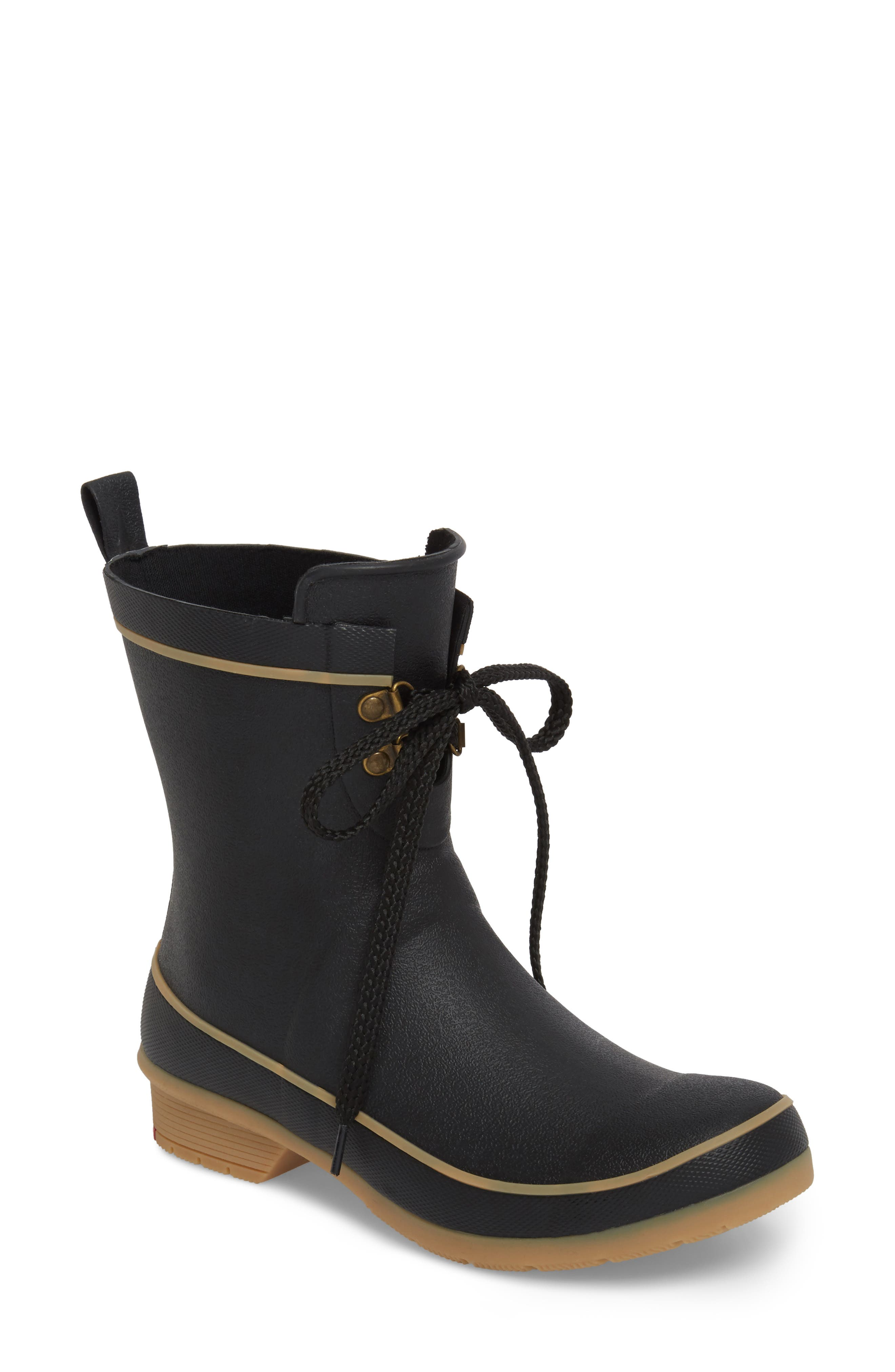 Whidbey Rain Boot,                         Main,                         color, BLACK