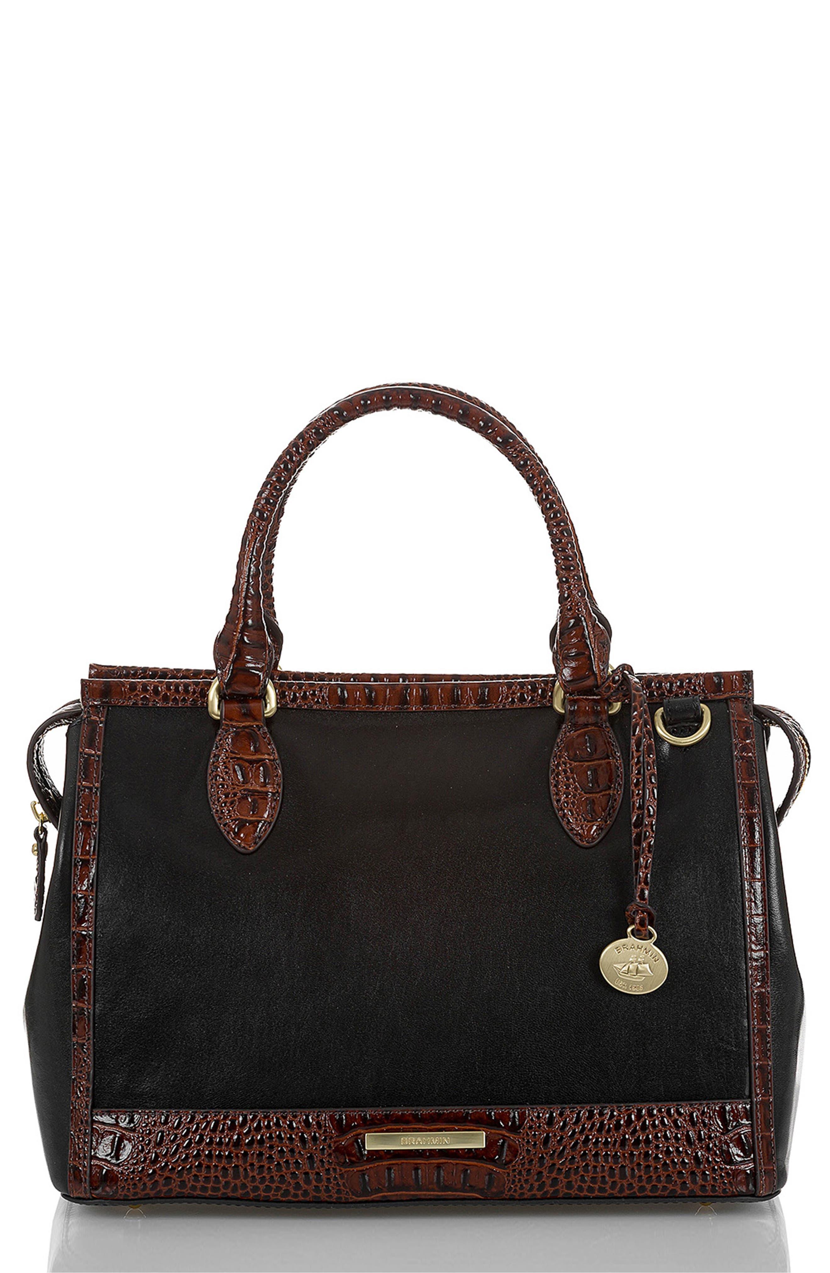 Schooner Leather Satchel,                             Main thumbnail 1, color,                             BLACK