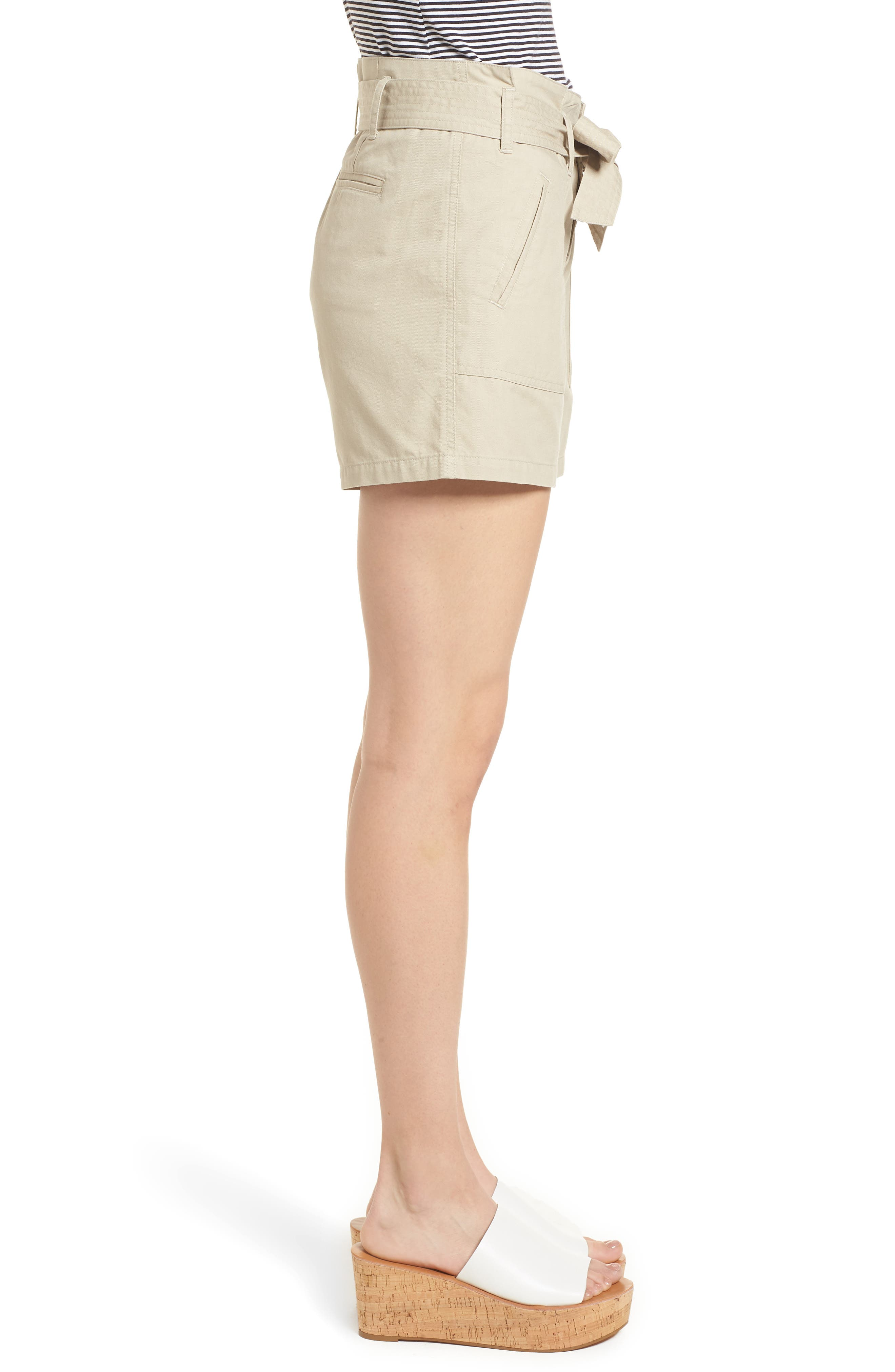 Belted Twill Shorts,                             Alternate thumbnail 10, color,