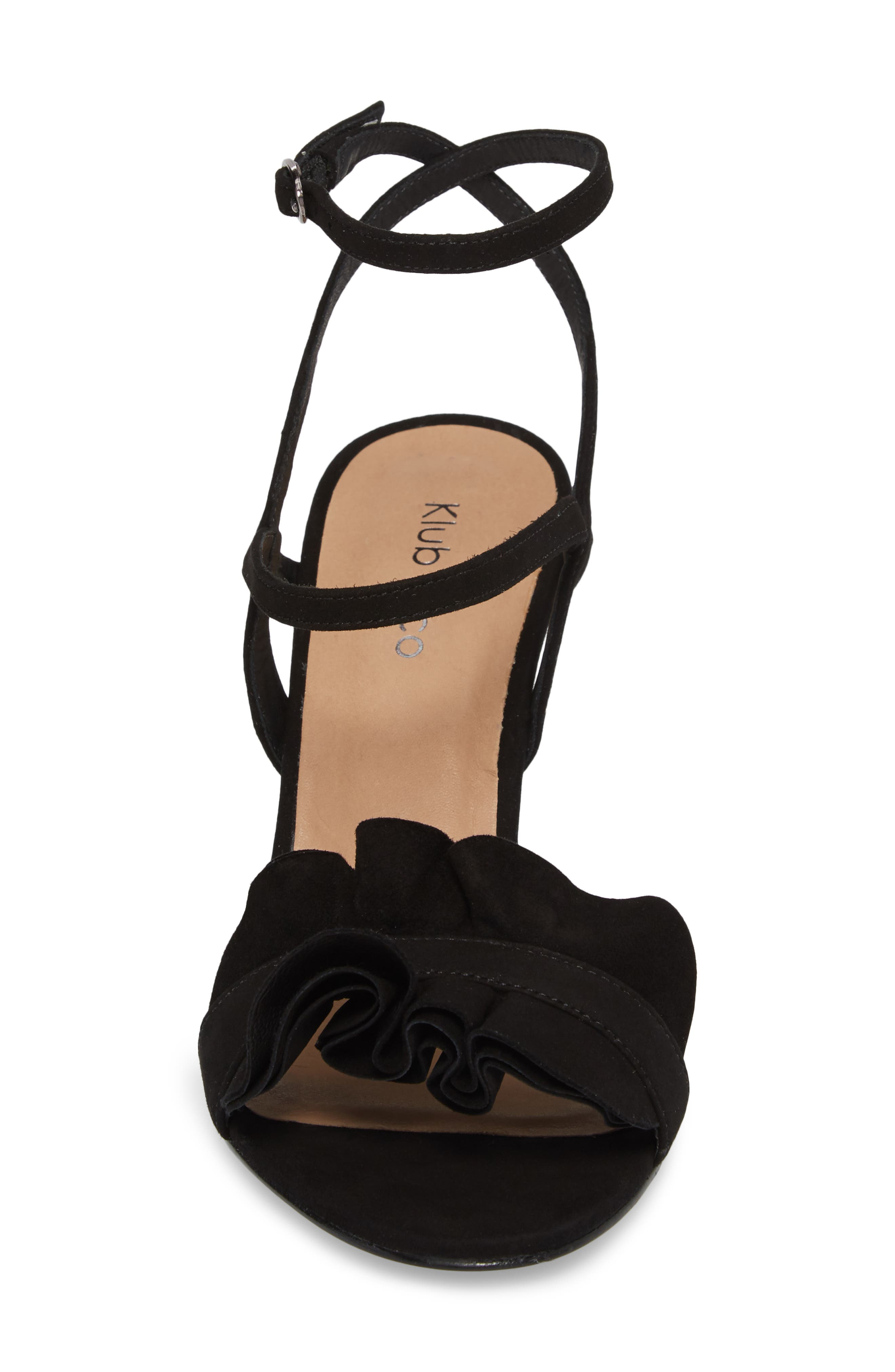 Ansley Sandal,                             Alternate thumbnail 4, color,                             BLACK SUEDE