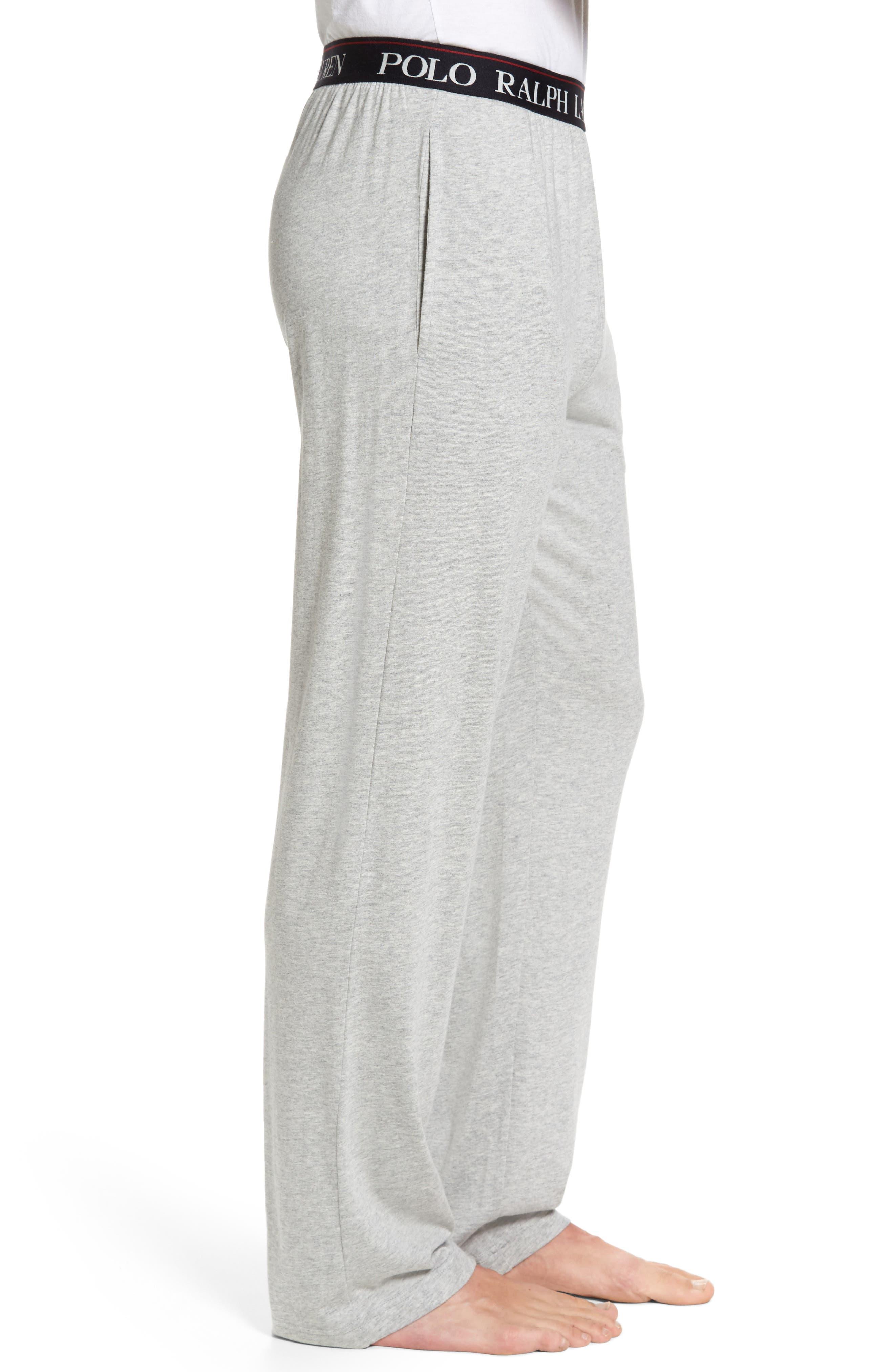 Cotton & Modal Lounge Pants,                             Alternate thumbnail 3, color,                             ANDOVER HEATHER GREY