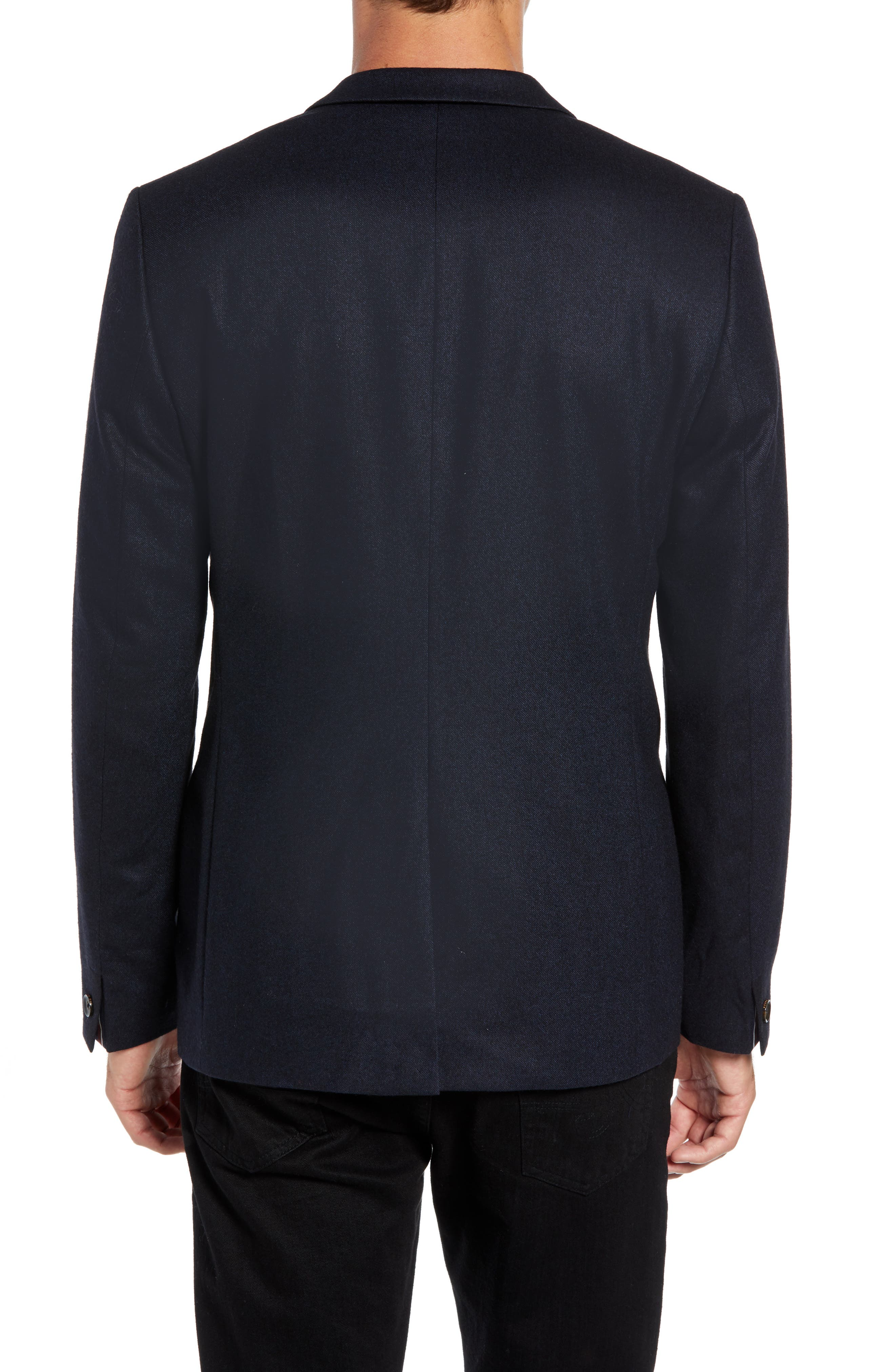 Matza Wool Blend Sport Coat,                             Alternate thumbnail 2, color,                             NAVY