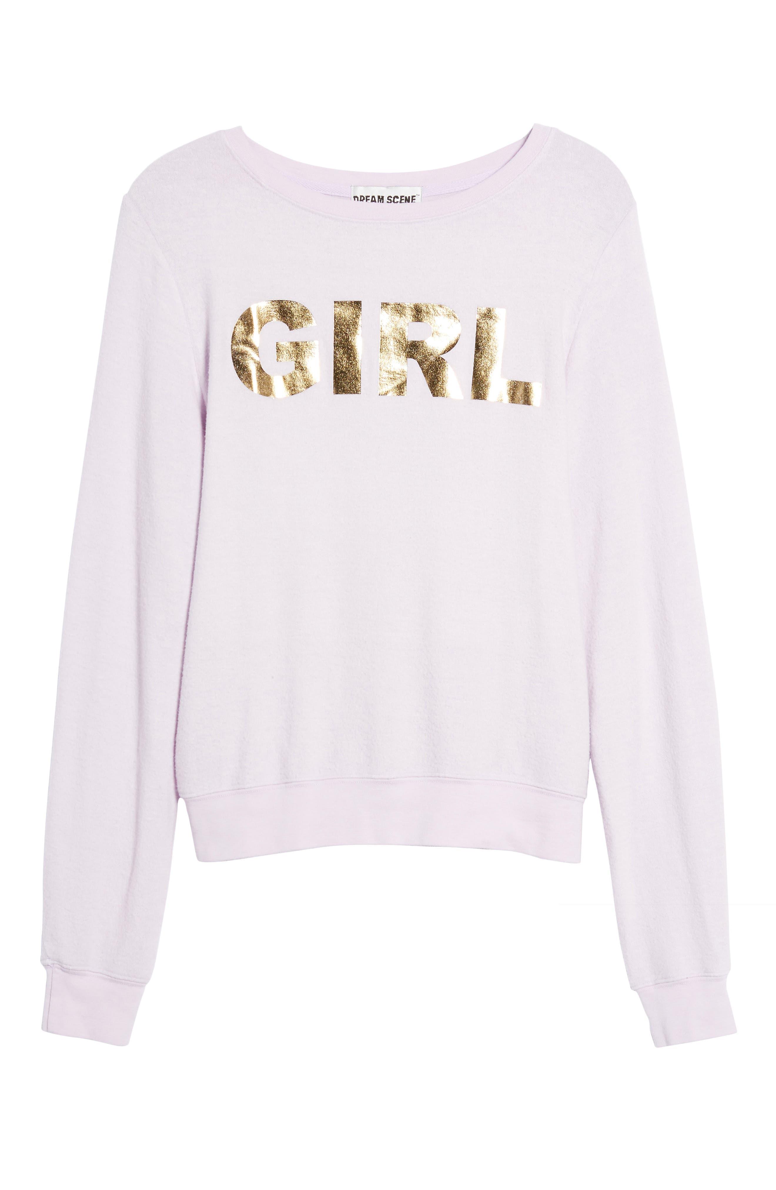 Girl Sweatshirt,                             Alternate thumbnail 6, color,                             510