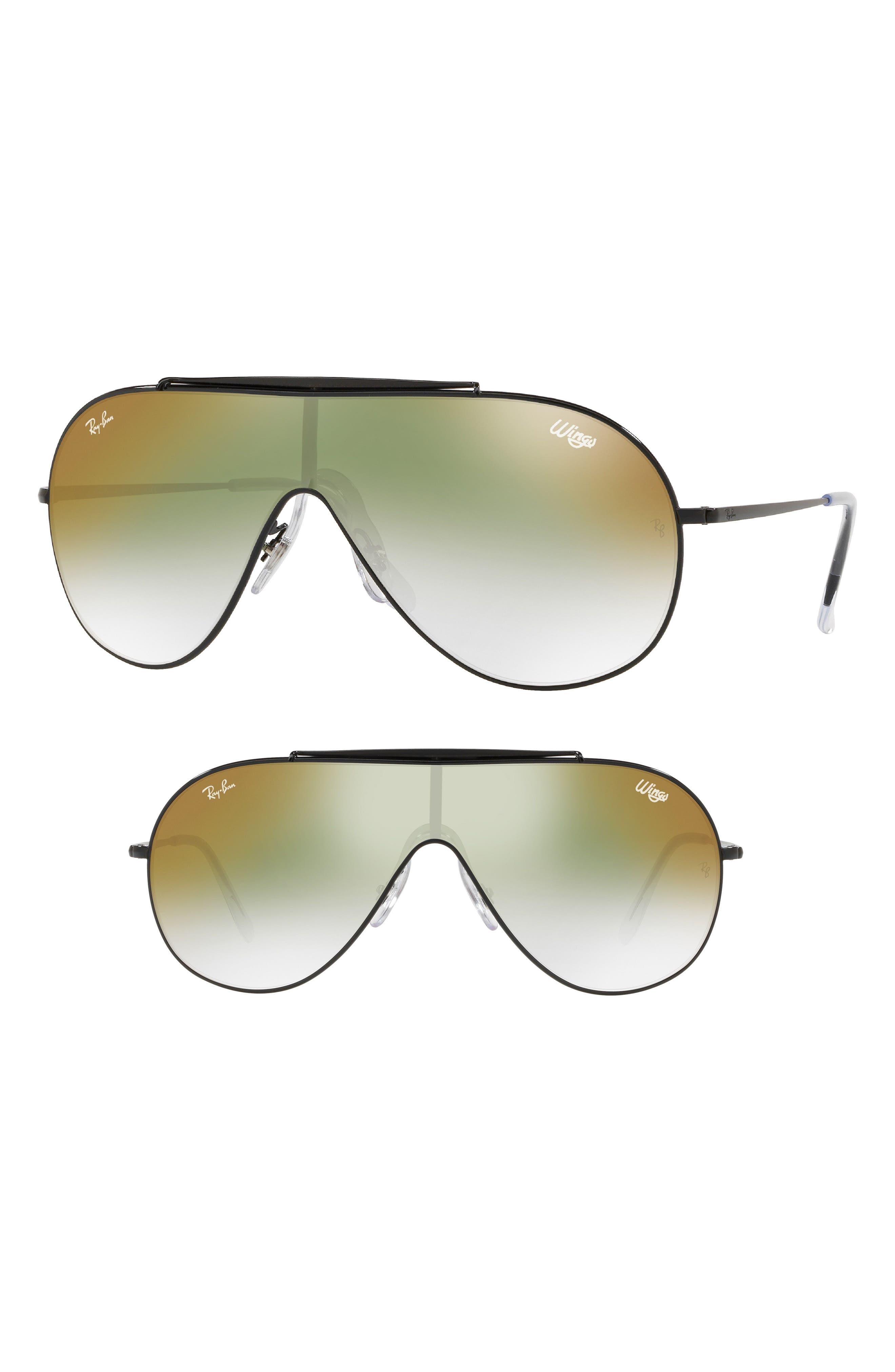 133mm Shield Sunglasses,                             Main thumbnail 1, color,                             001