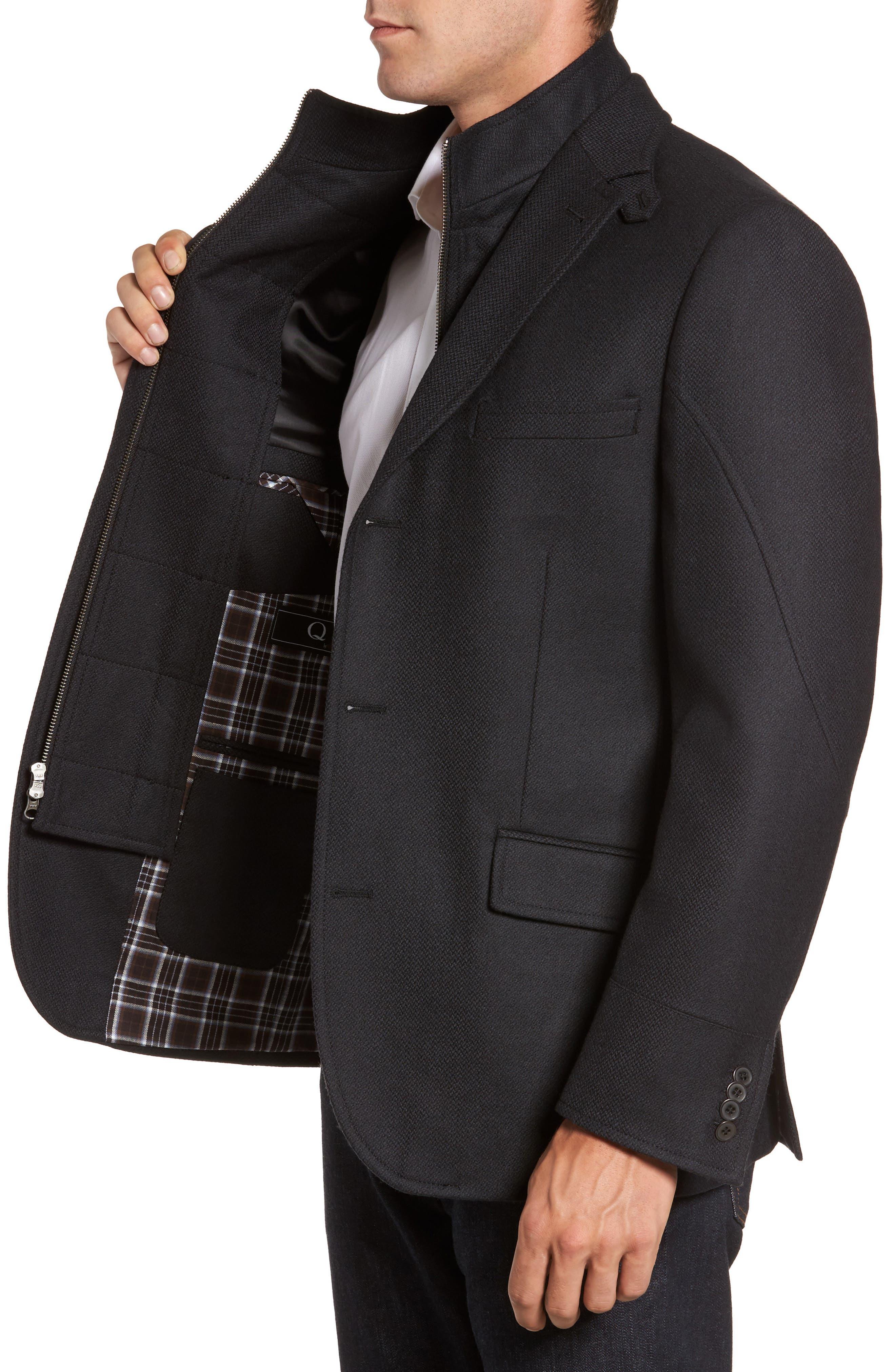 Classic Fit Wool & Cashmere Hybrid Coat,                             Alternate thumbnail 3, color,                             001