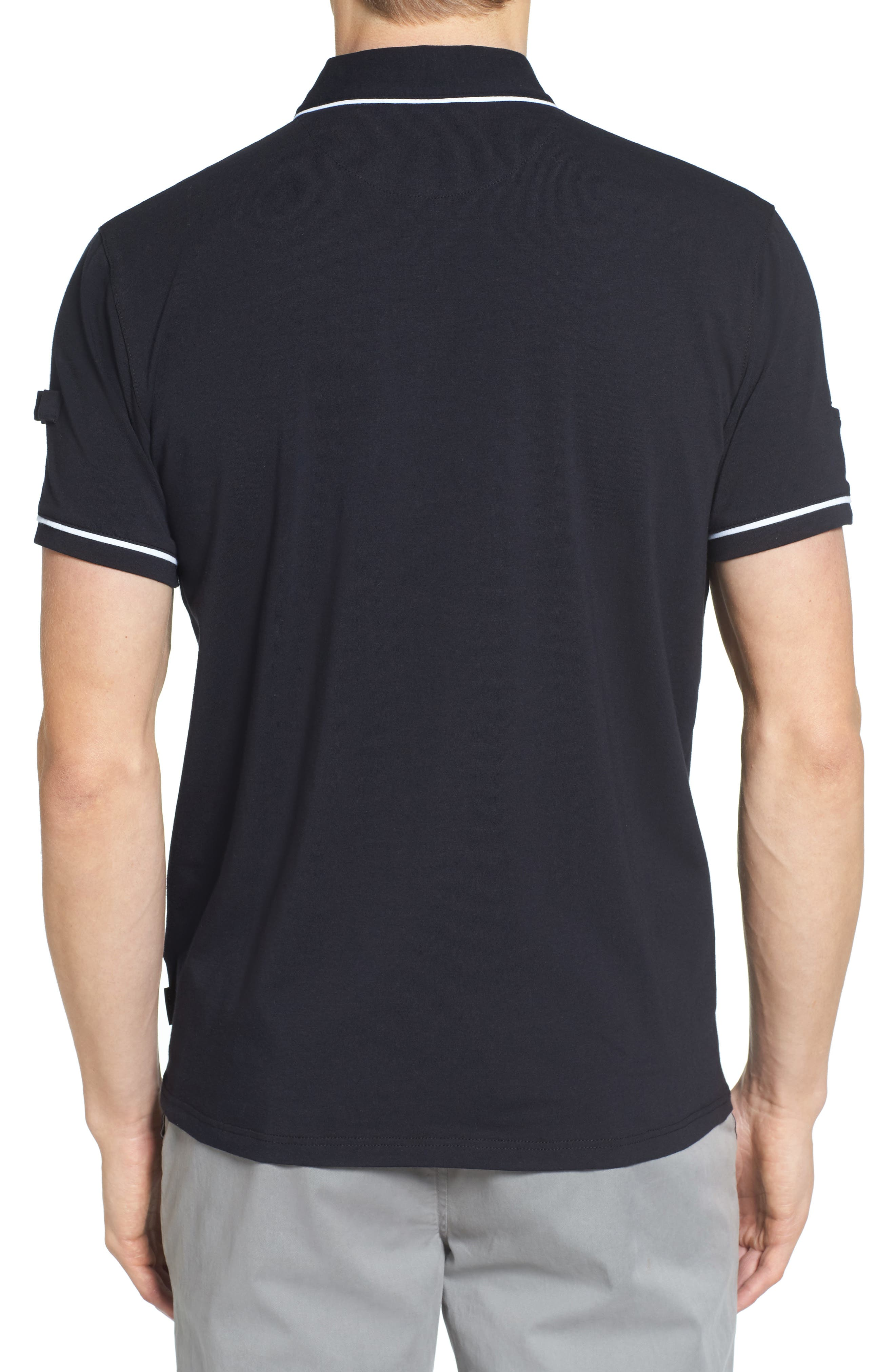 Playgo Piped Trim Golf Polo,                             Alternate thumbnail 2, color,                             001