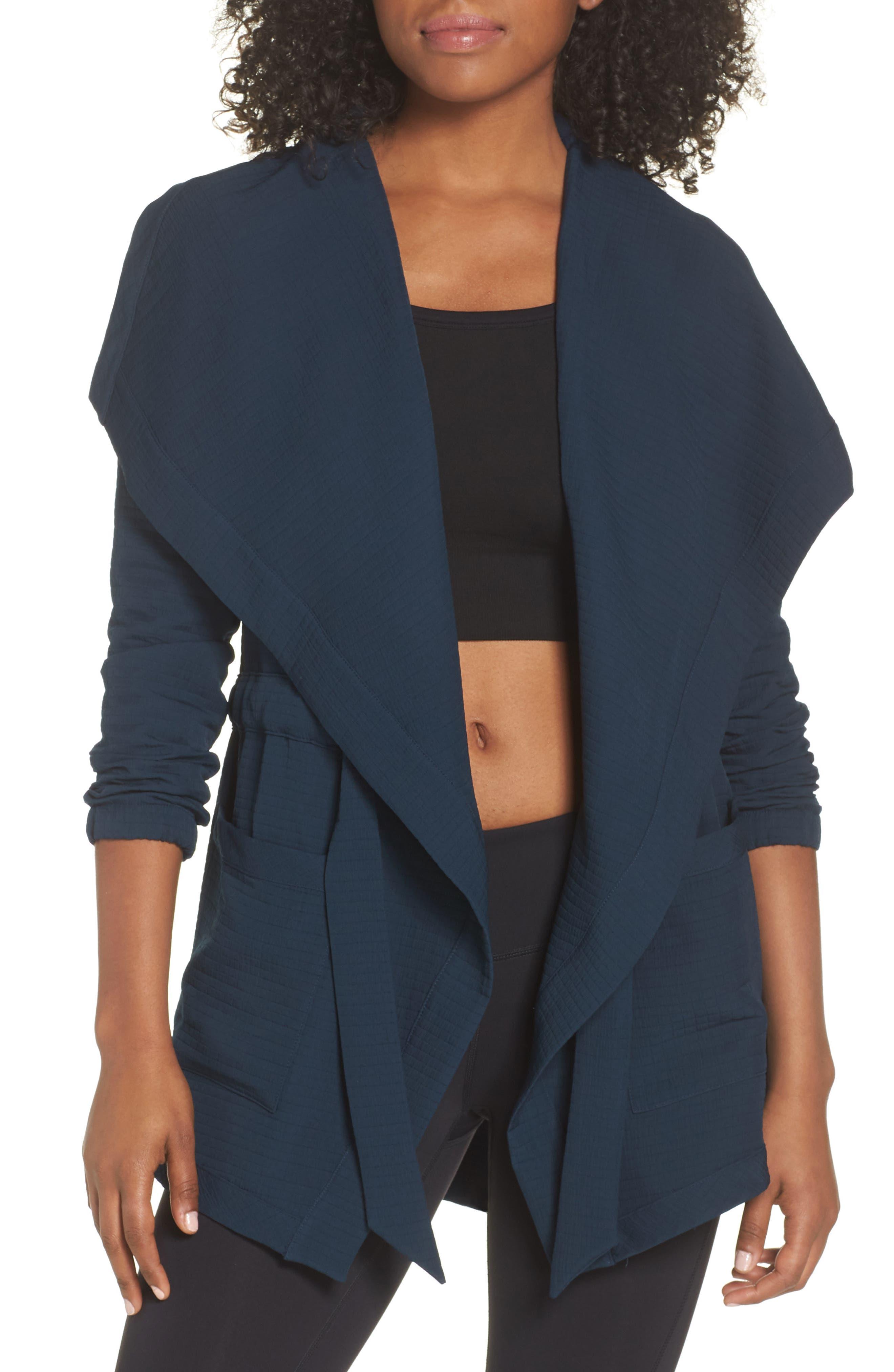 Studio Tie Waist Jacket,                         Main,                         color, GALAXY