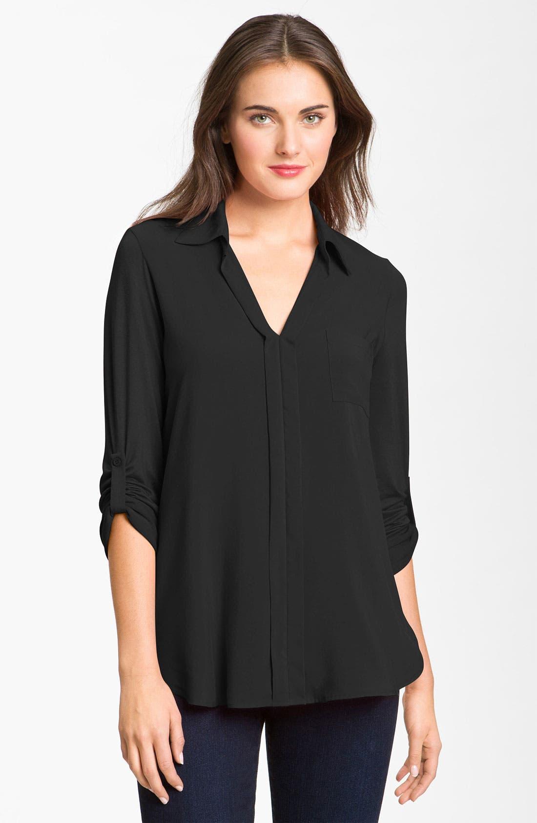 Mixed Media Shirt, Main, color, 001
