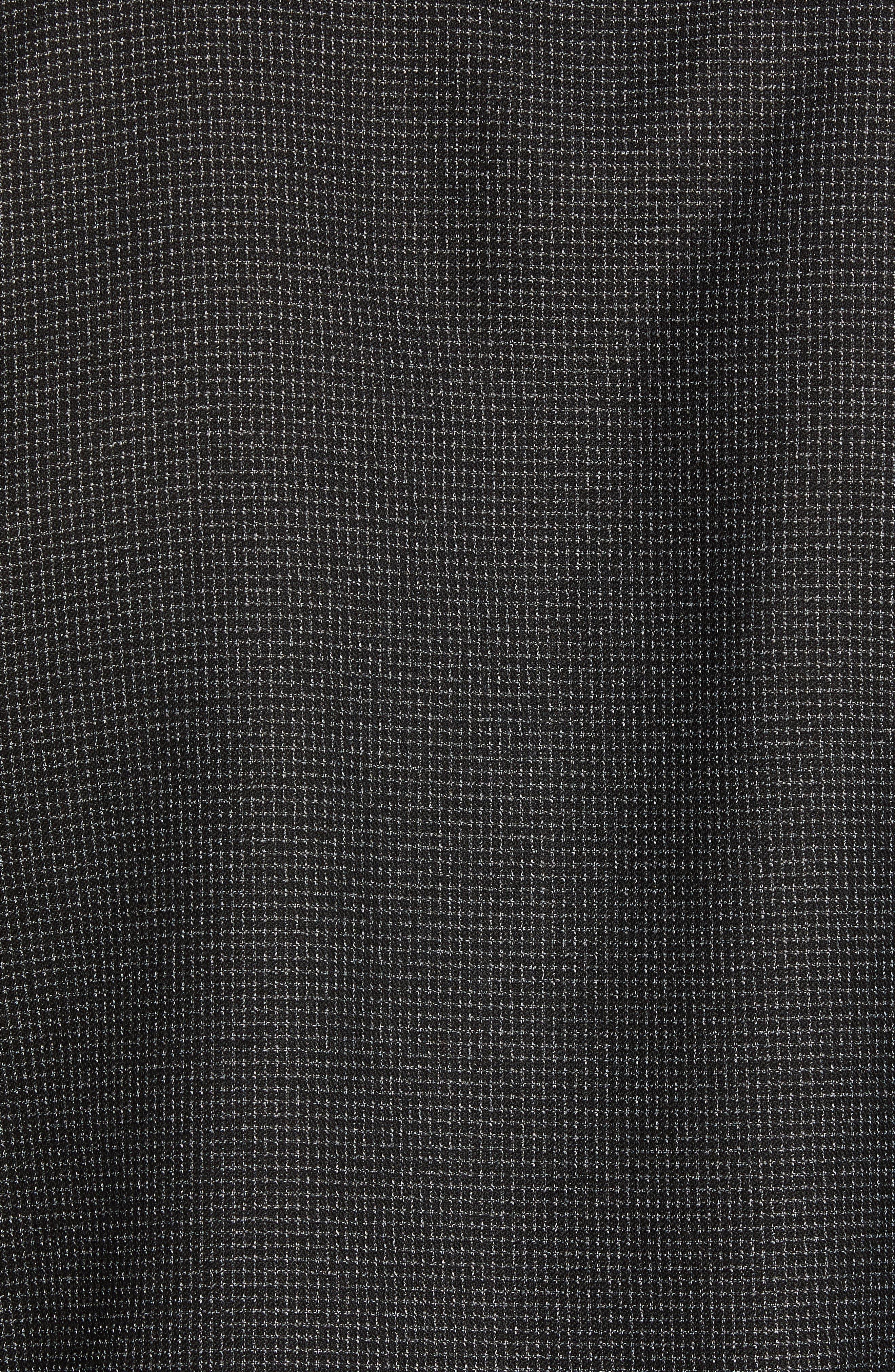 Grid Zip Shirt Jacket,                             Alternate thumbnail 7, color,                             BLACK WHITE GRID