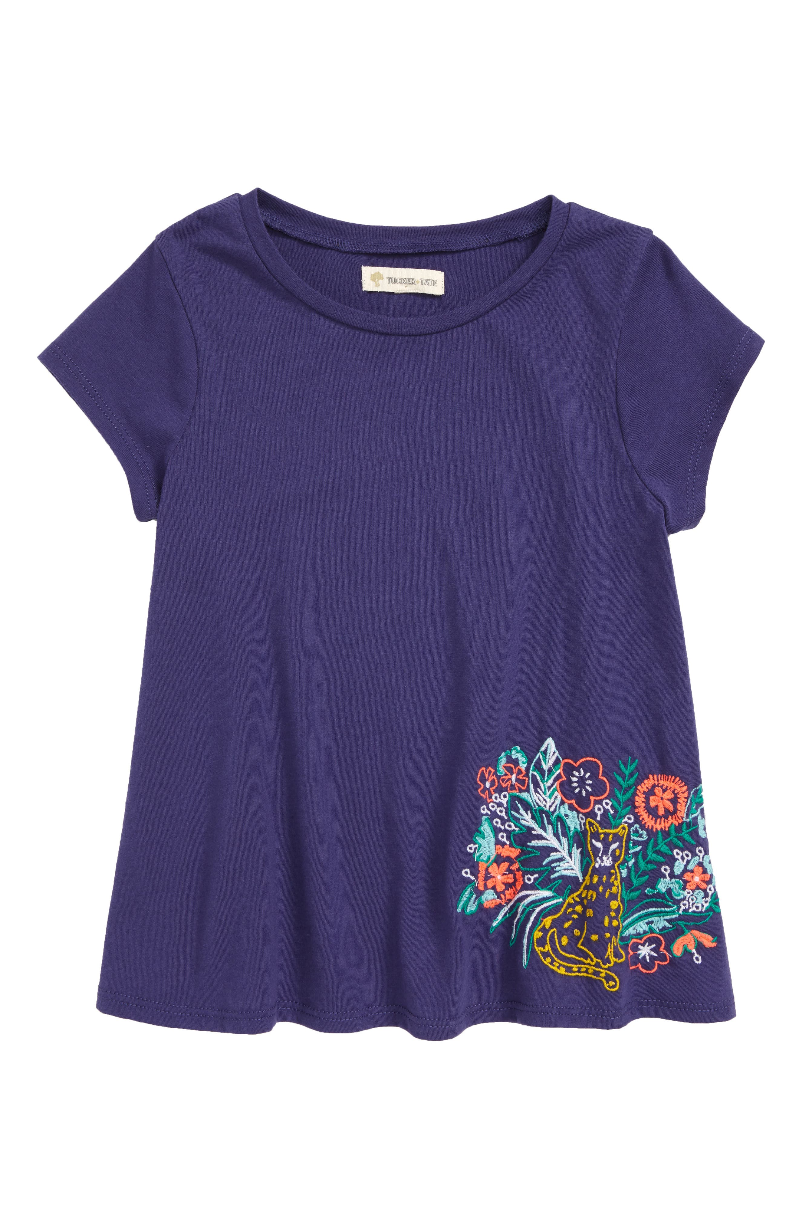 Embroidered Swing Tee,                         Main,                         color, 410