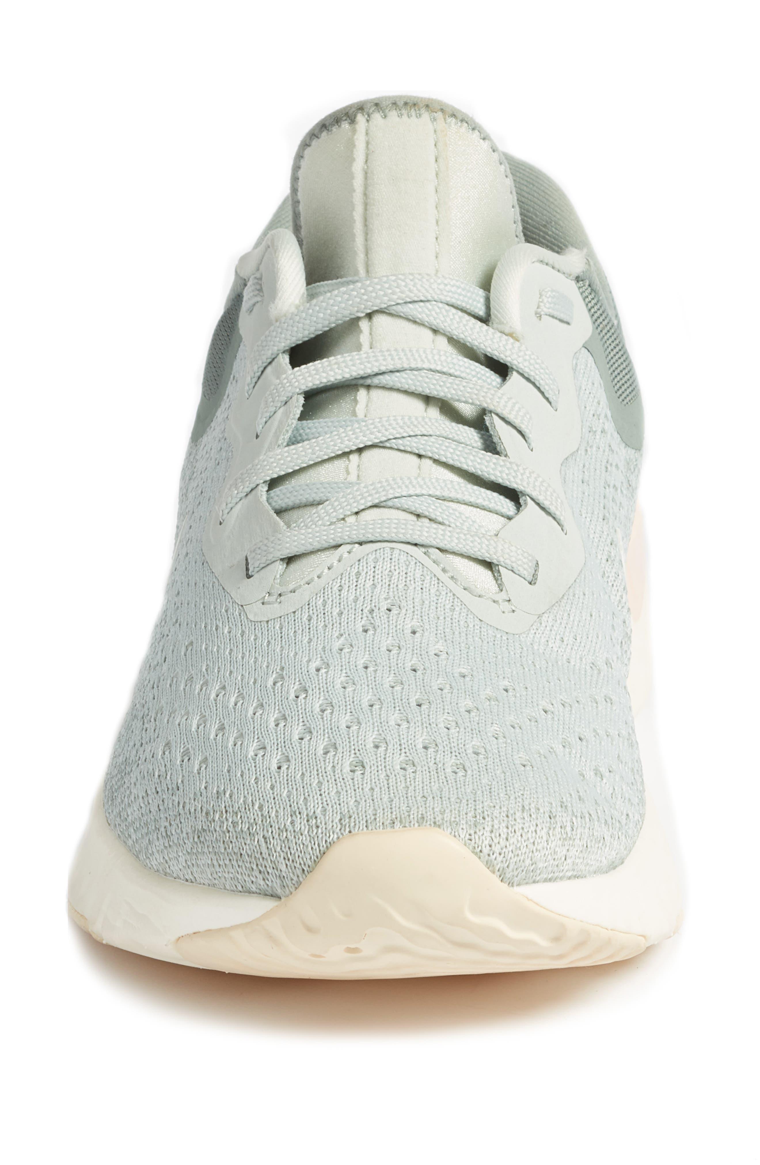 Odyssey React Running Shoe,                             Alternate thumbnail 4, color,                             LIGHT SILVER/ SAIL/ MICA GREEN