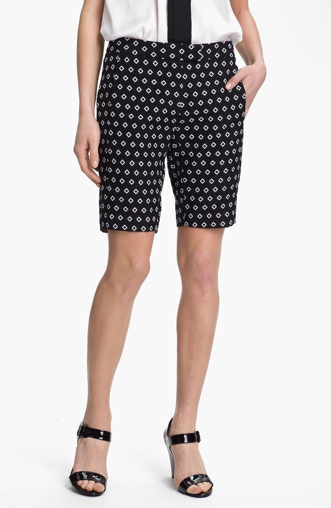 Diamond Jacquard Bermuda Shorts,                         Main,                         color, 001