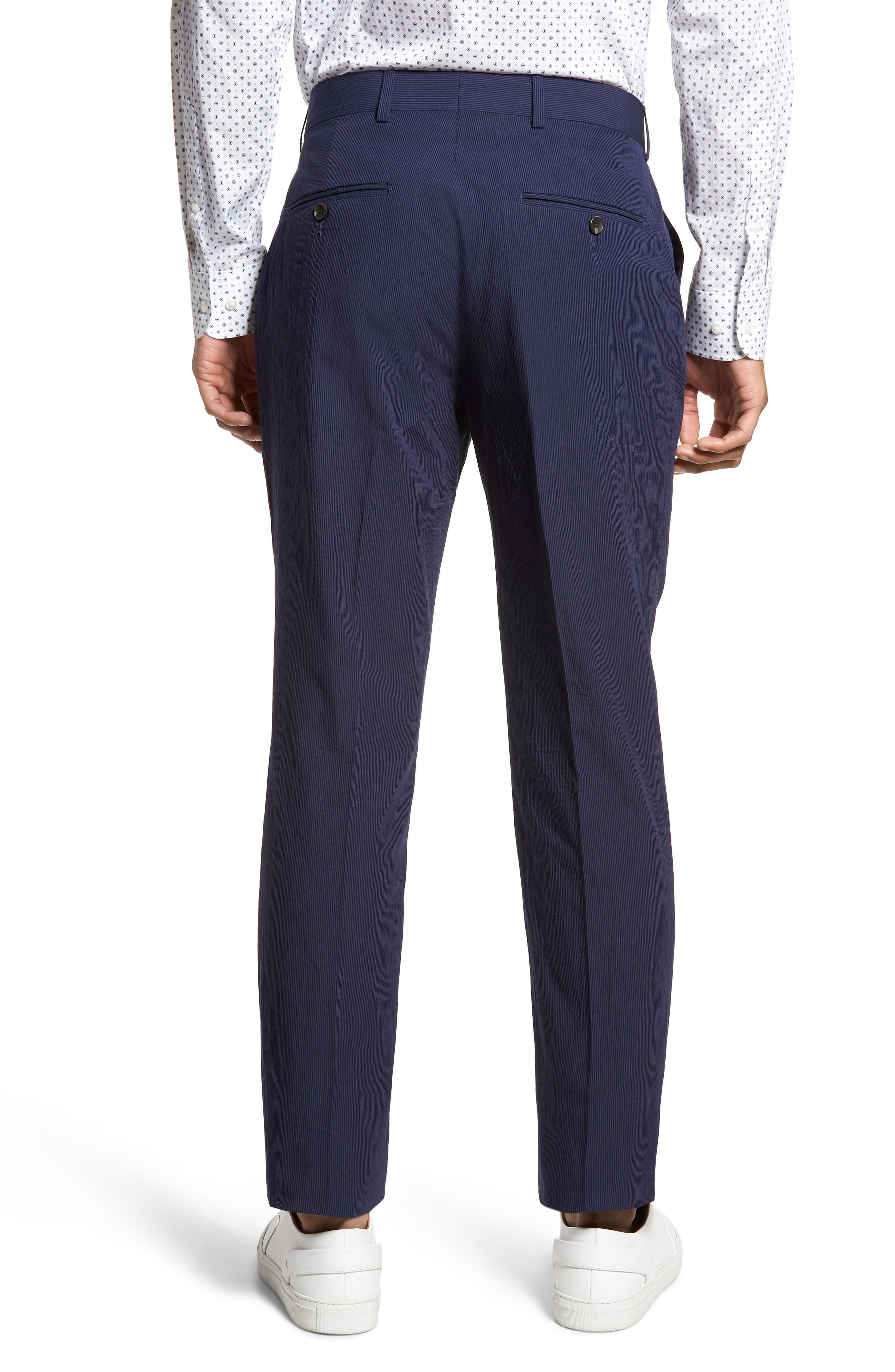 Dagger Flat Front Seersucker Trousers,                             Alternate thumbnail 2, color,                             400