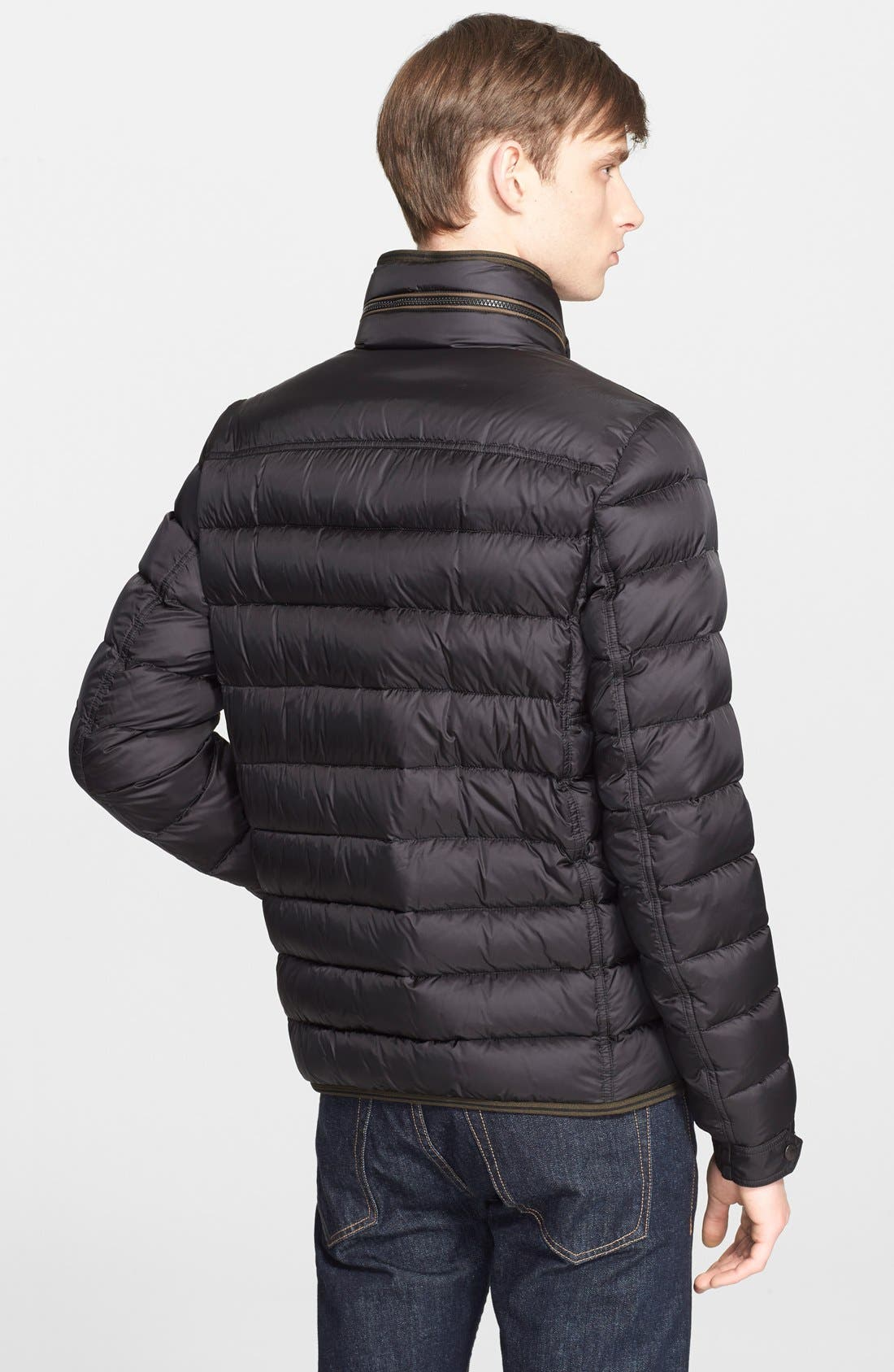 'Norbert' Quilted Down Jacket,                             Alternate thumbnail 3, color,                             001