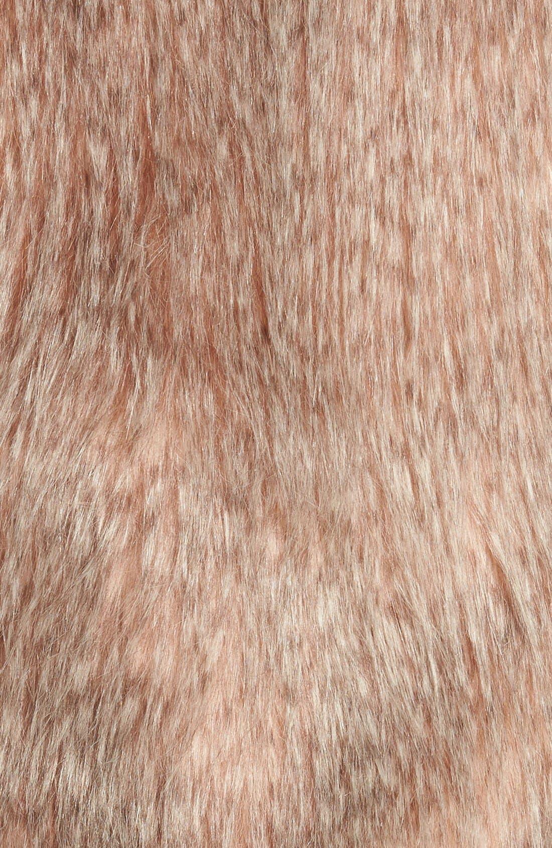 Collarless Faux Fur Vest,                             Alternate thumbnail 15, color,