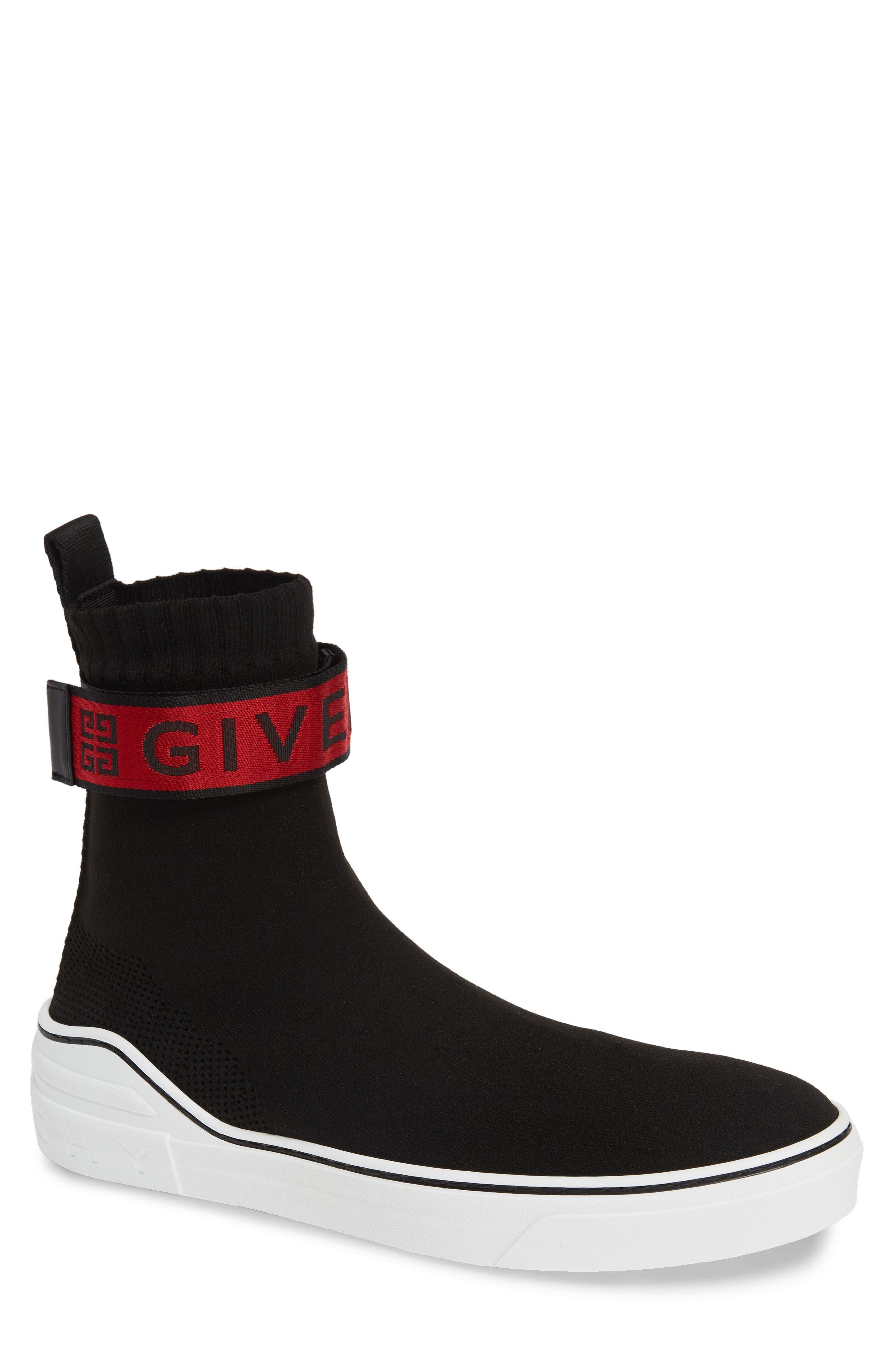 George V Sneaker, Main, color, BLACK/ RED
