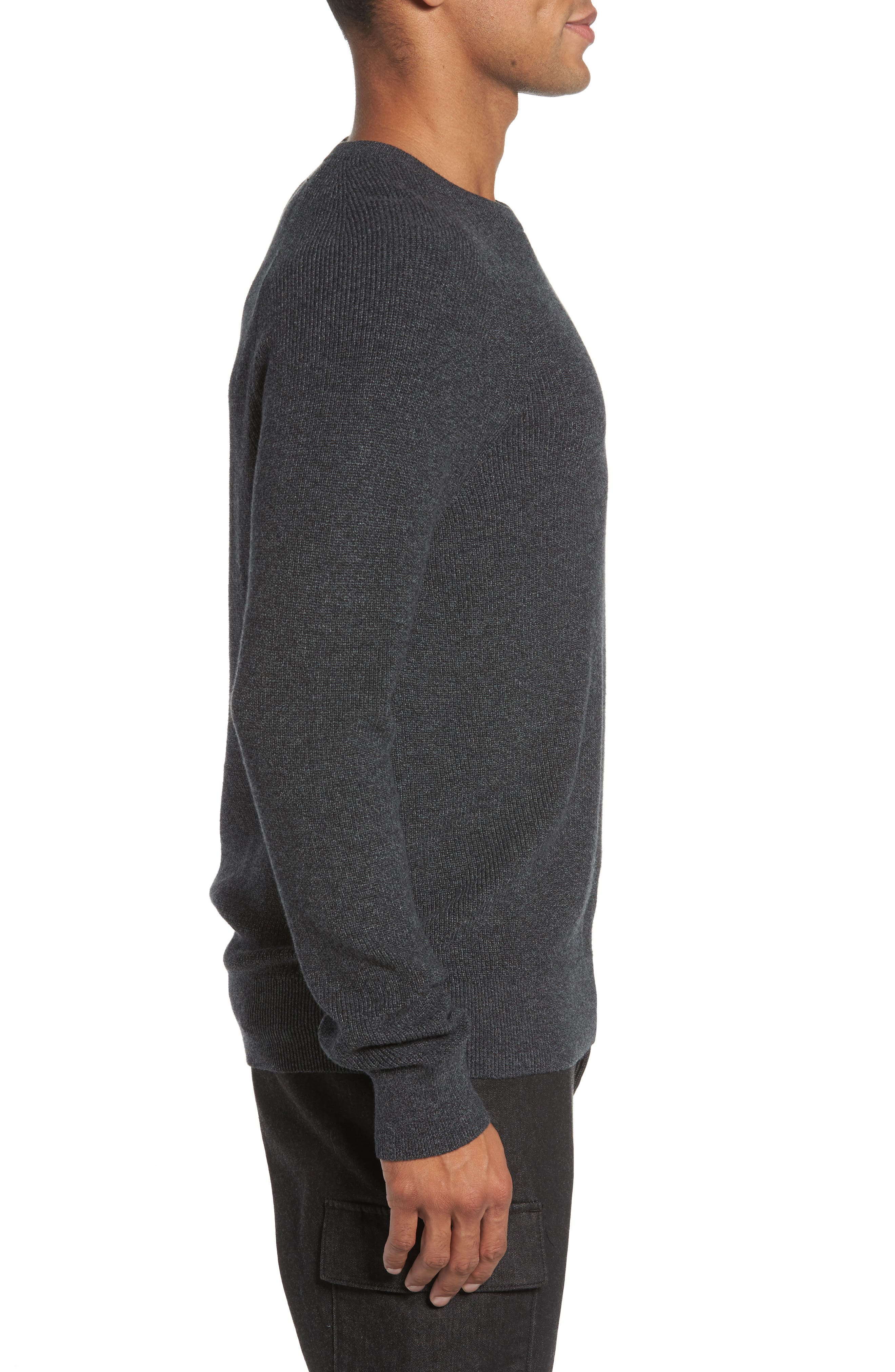 Ribbed Crewneck Sweater,                             Alternate thumbnail 3, color,                             014