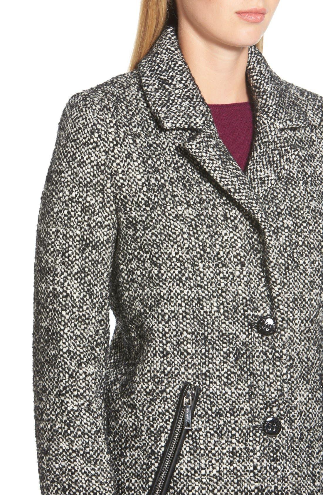 Tweed Walking Coat,                             Alternate thumbnail 6, color,                             081