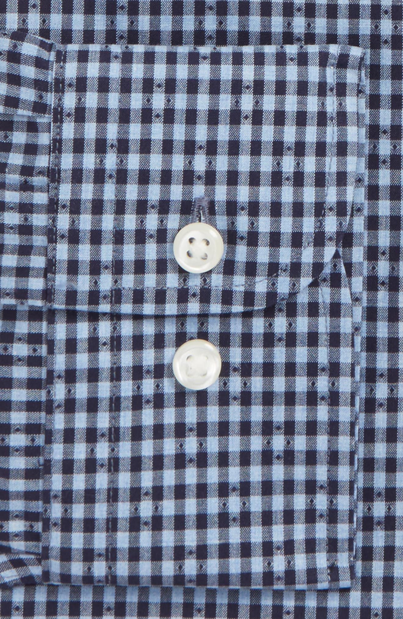 Smartcare<sup>™</sup> Trim Fit Check Dress Shirt,                             Alternate thumbnail 2, color,                             410