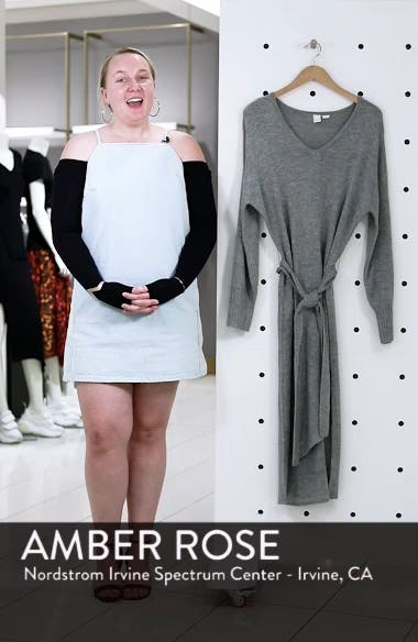 Belted Sweater Dress, sales video thumbnail