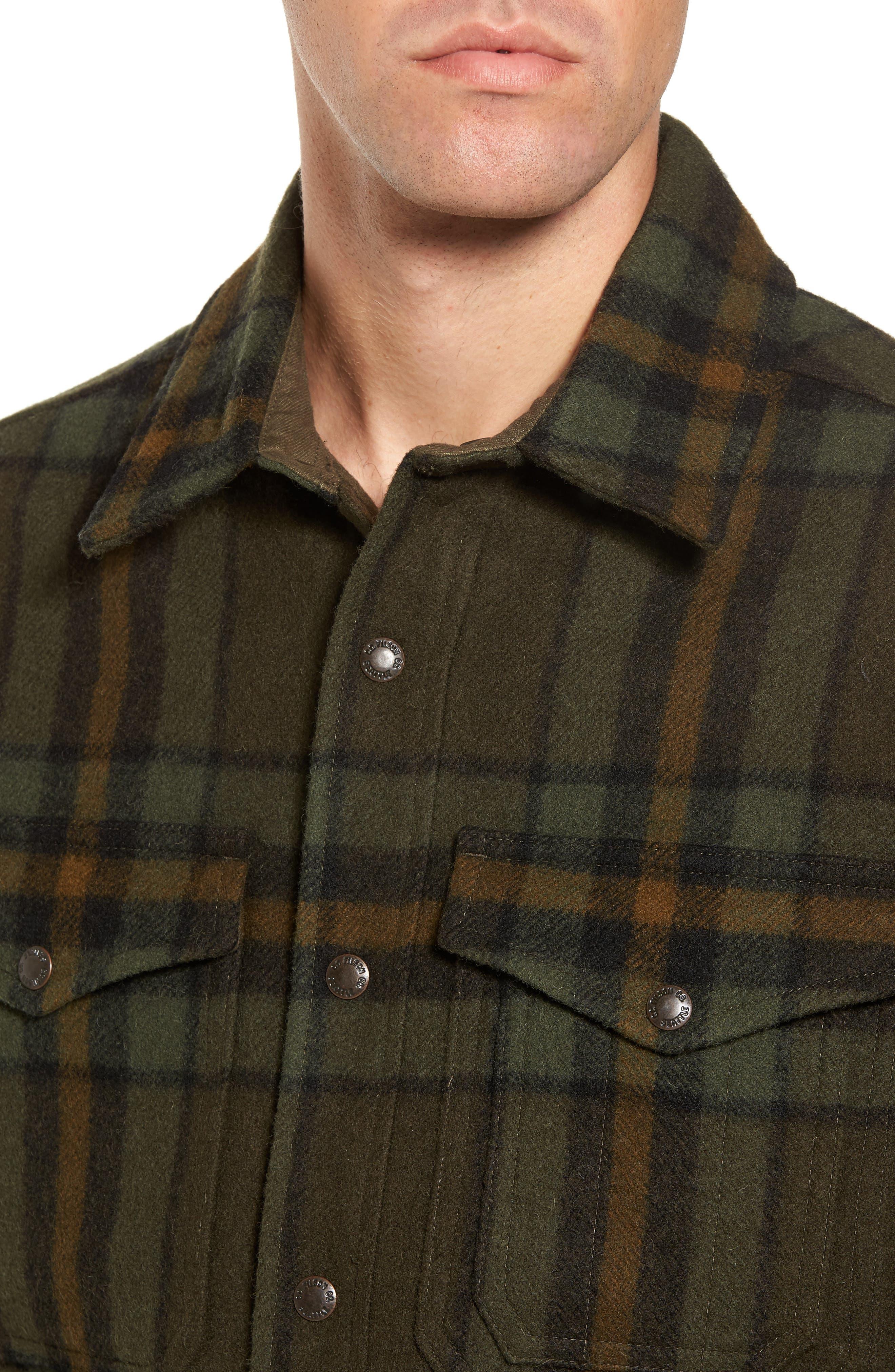 'Macinaw' Plaid Wool Flannel Shirt Jacket,                             Alternate thumbnail 7, color,