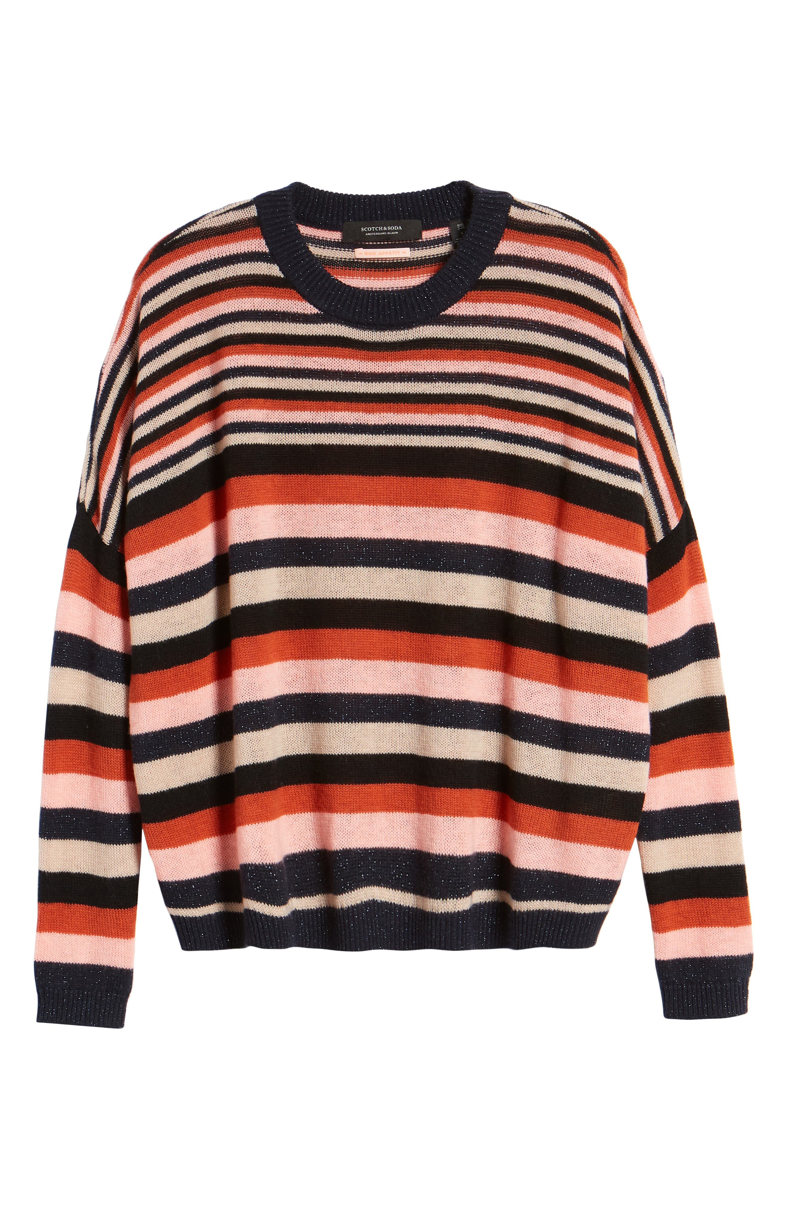 SCOTCH & SODA,                             Stripe Sweater,                             Alternate thumbnail 6, color,                             651