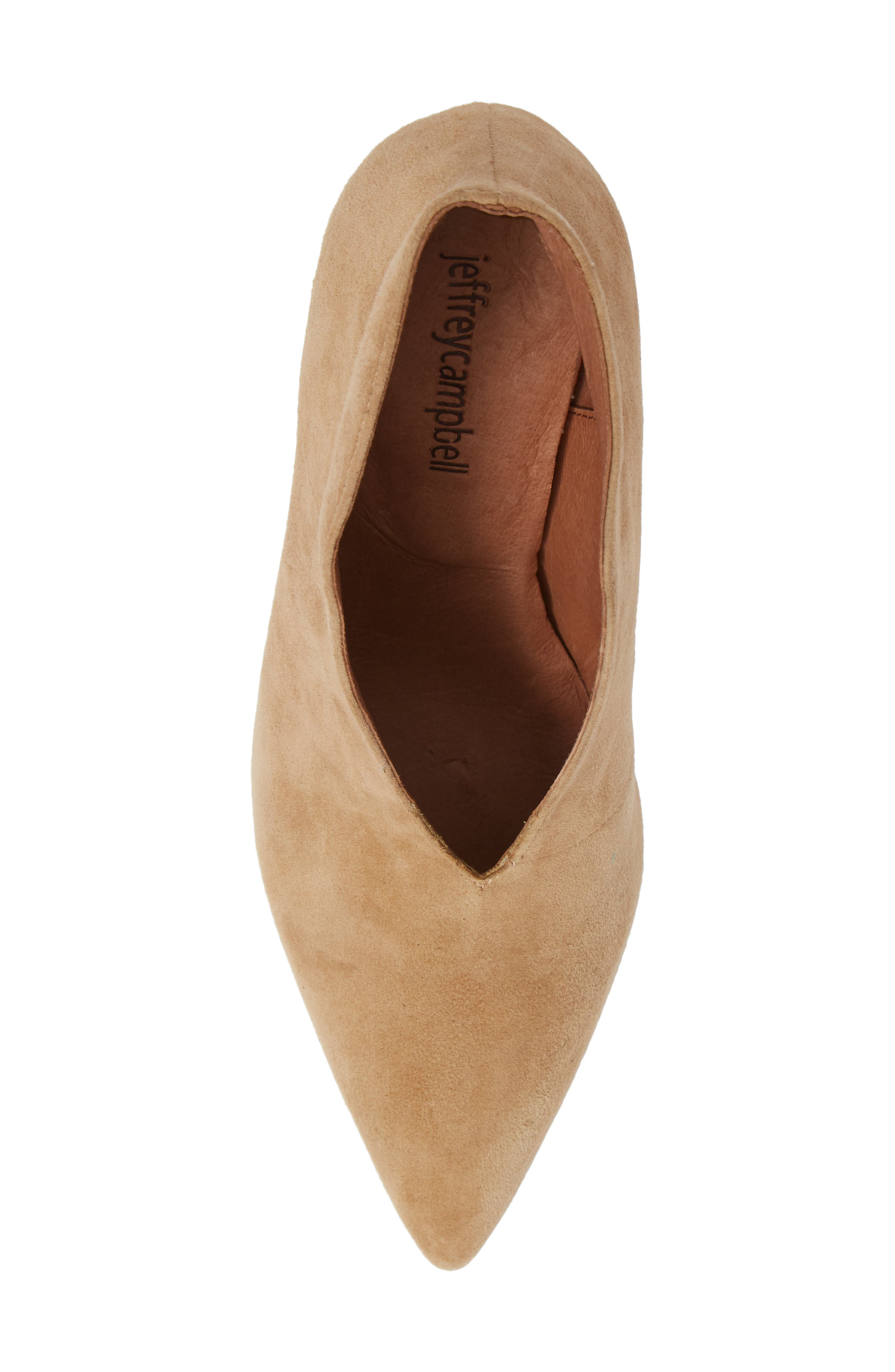 Electron Bootie,                             Alternate thumbnail 5, color,                             NUDE SUEDE