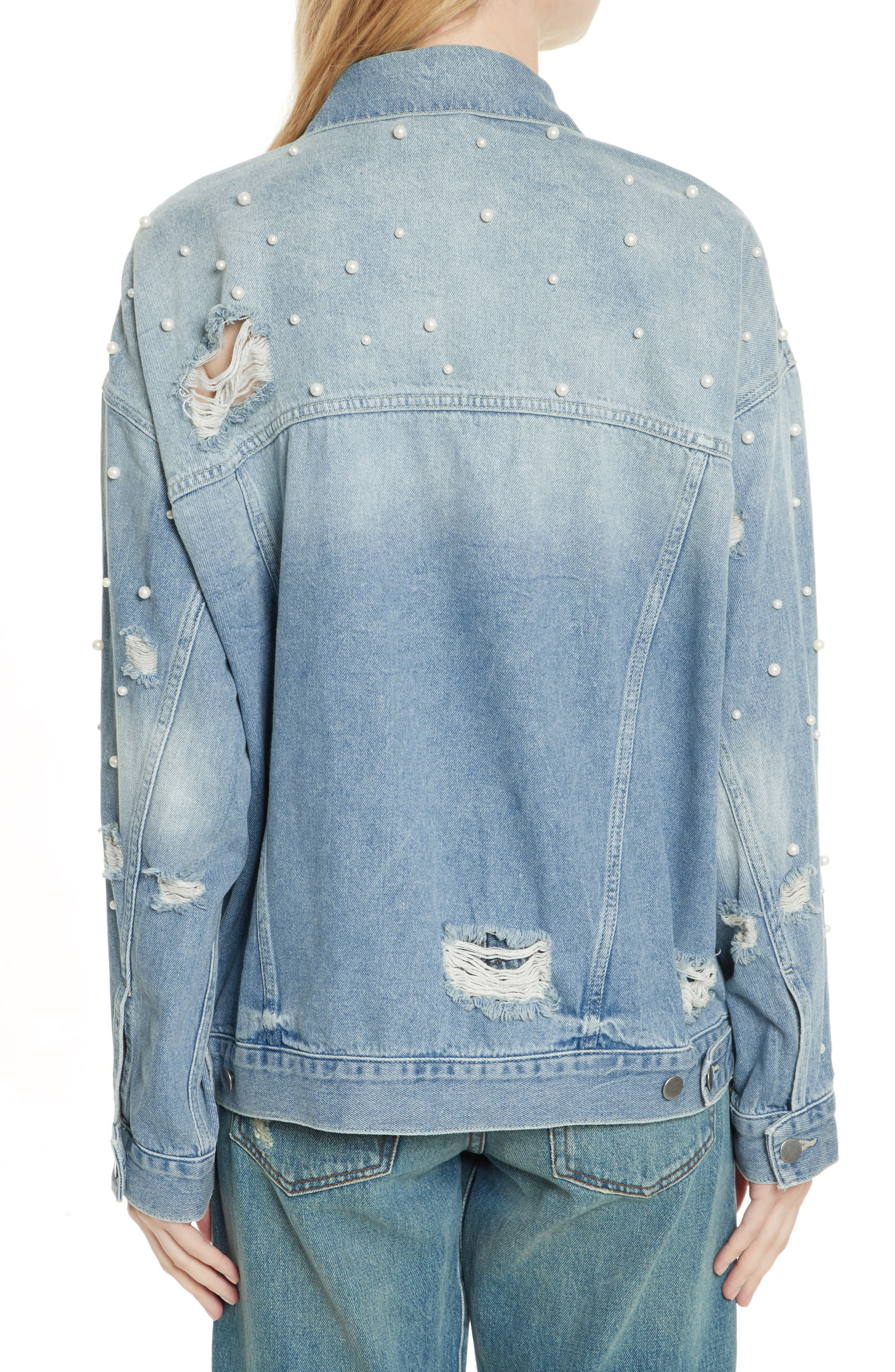 We the Free by Free People Sunday Funday Denim Trucker Jacket,                             Alternate thumbnail 2, color,                             403