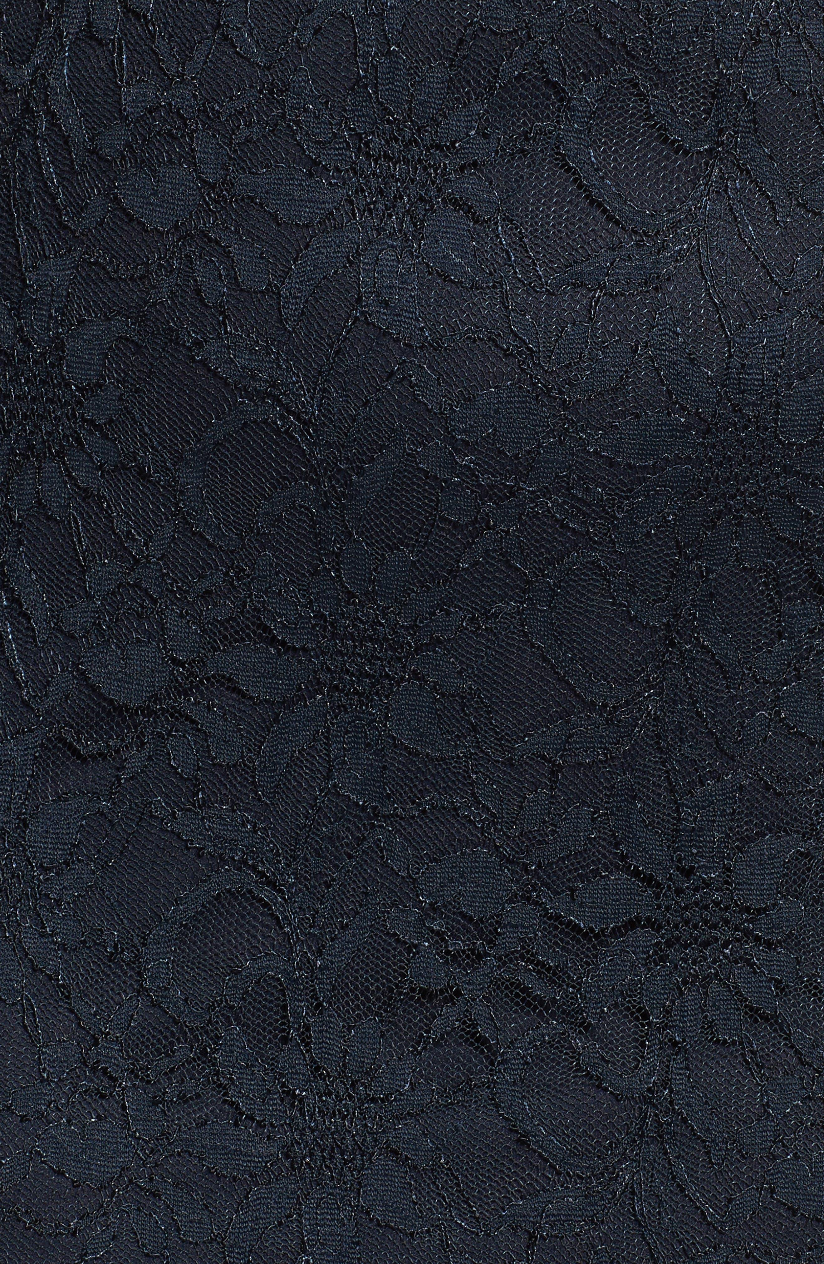 Cutout Back Lace Empire Gown,                             Alternate thumbnail 5, color,                             410