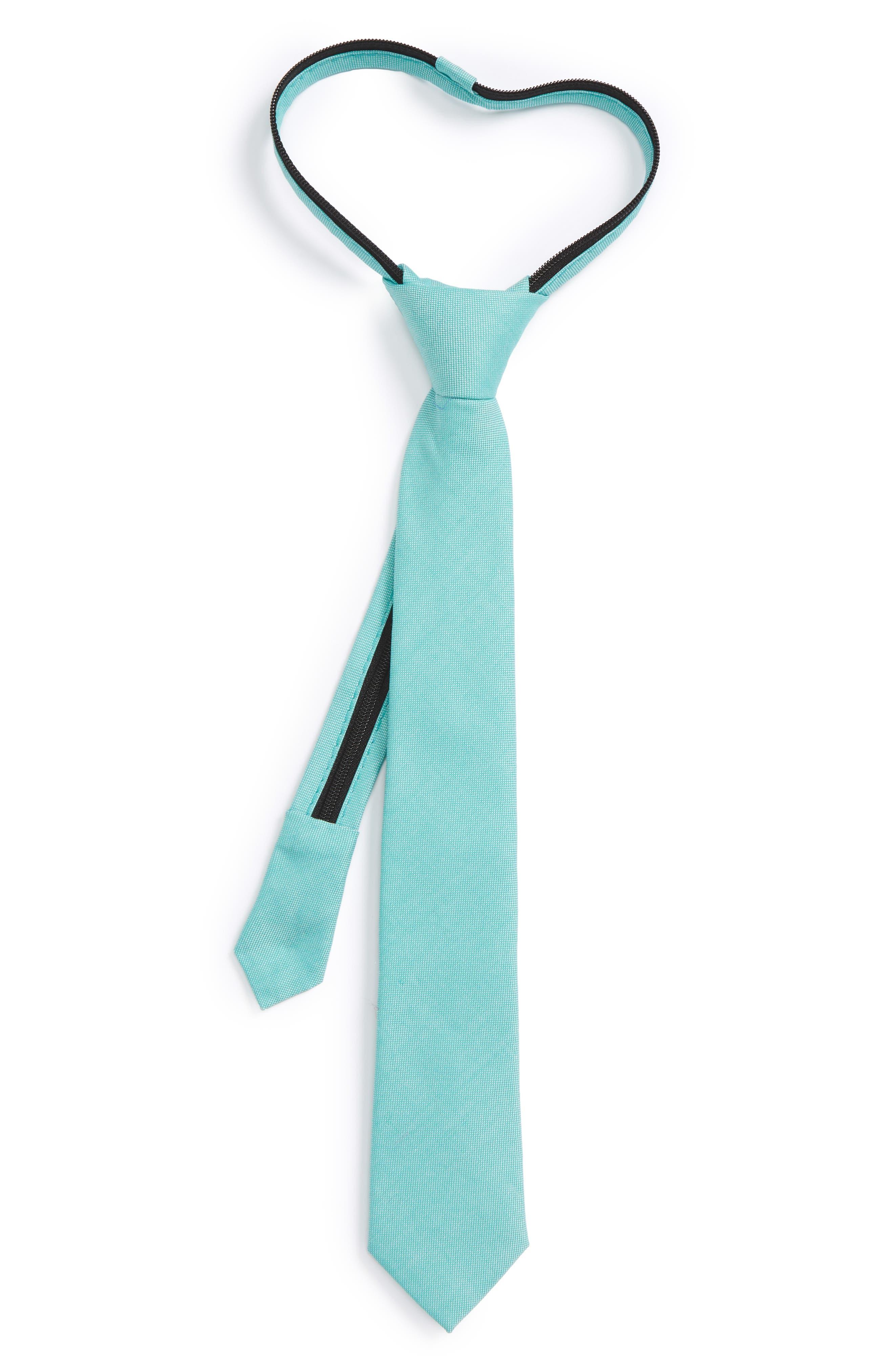 Solid Cotton Zipper Tie,                             Main thumbnail 2, color,