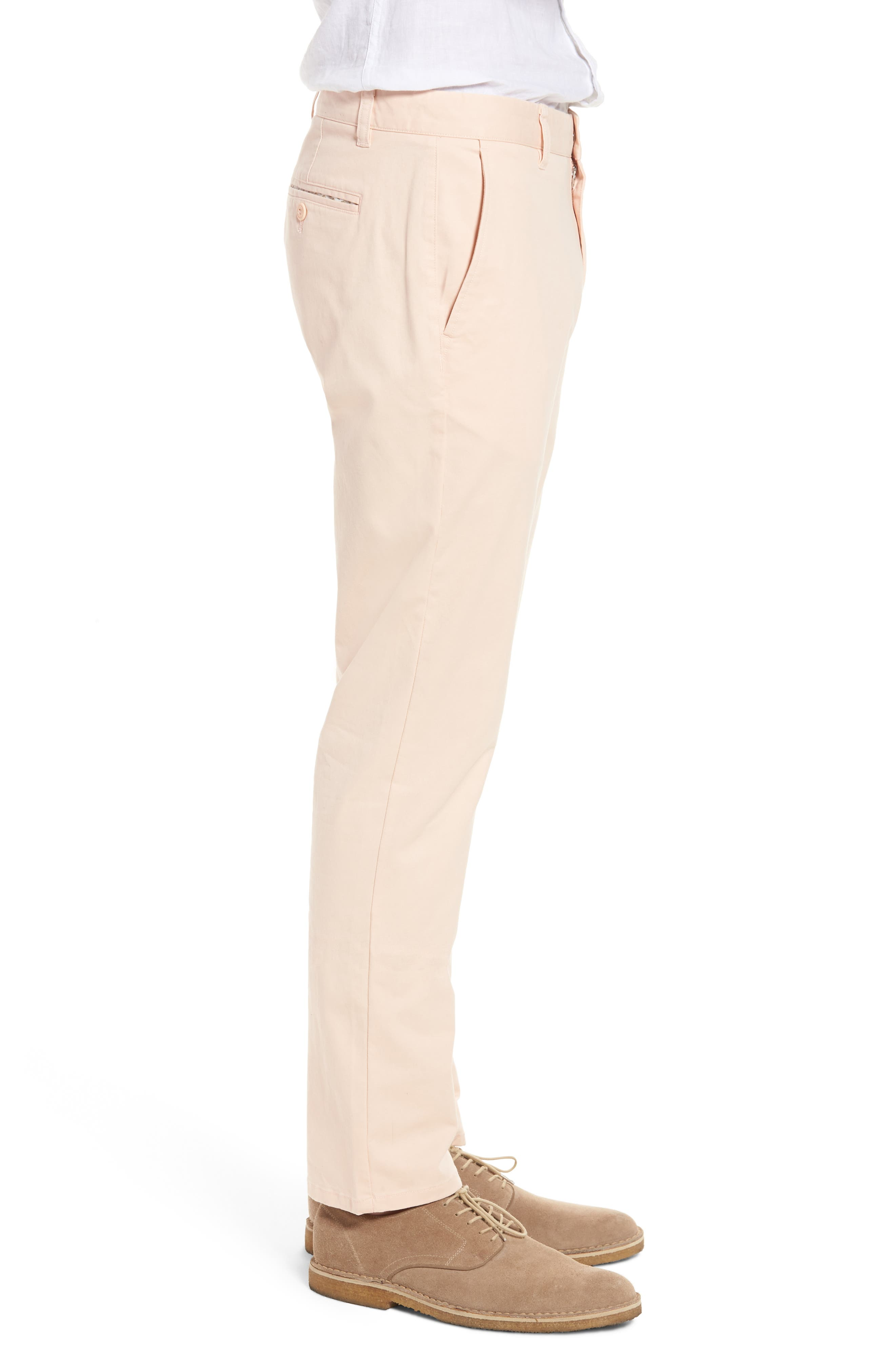 Tailored Fit Washed Stretch Cotton Chinos,                             Alternate thumbnail 92, color,