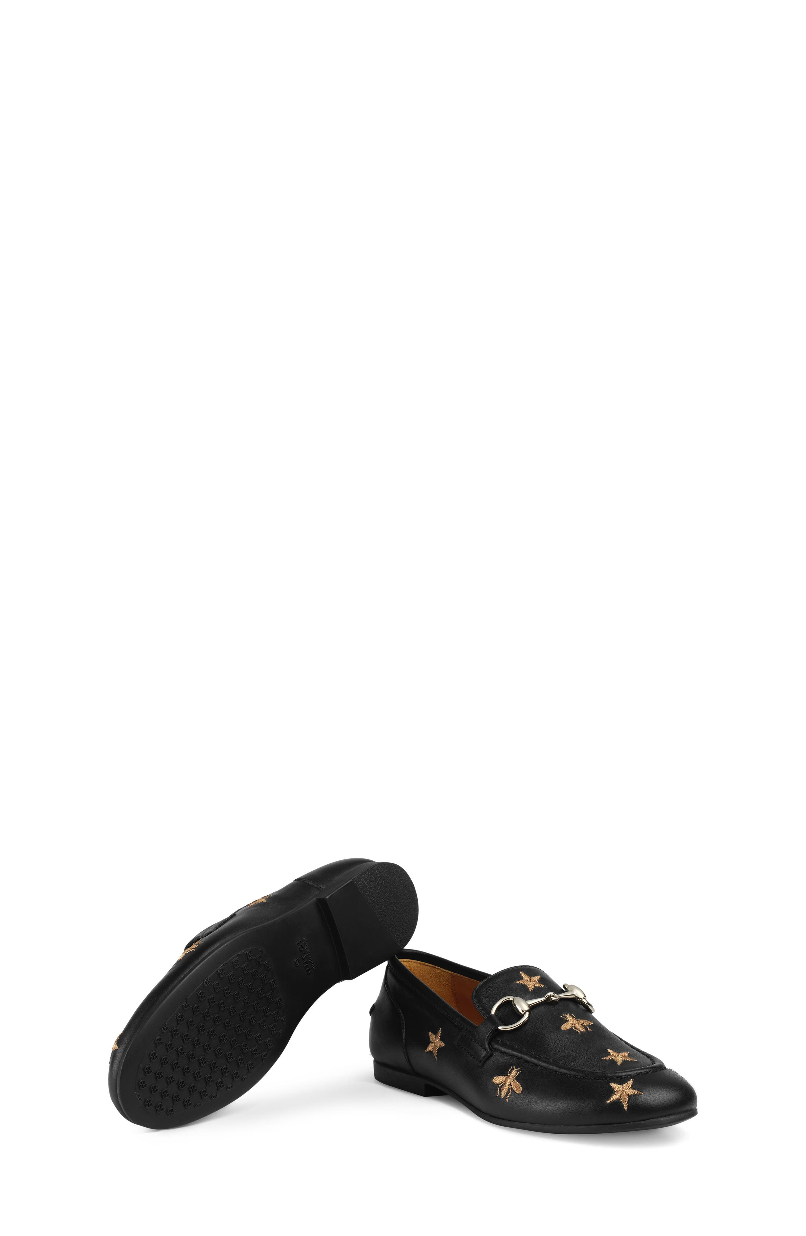 Jordaan Bit Loafer,                             Alternate thumbnail 4, color,                             BLACK