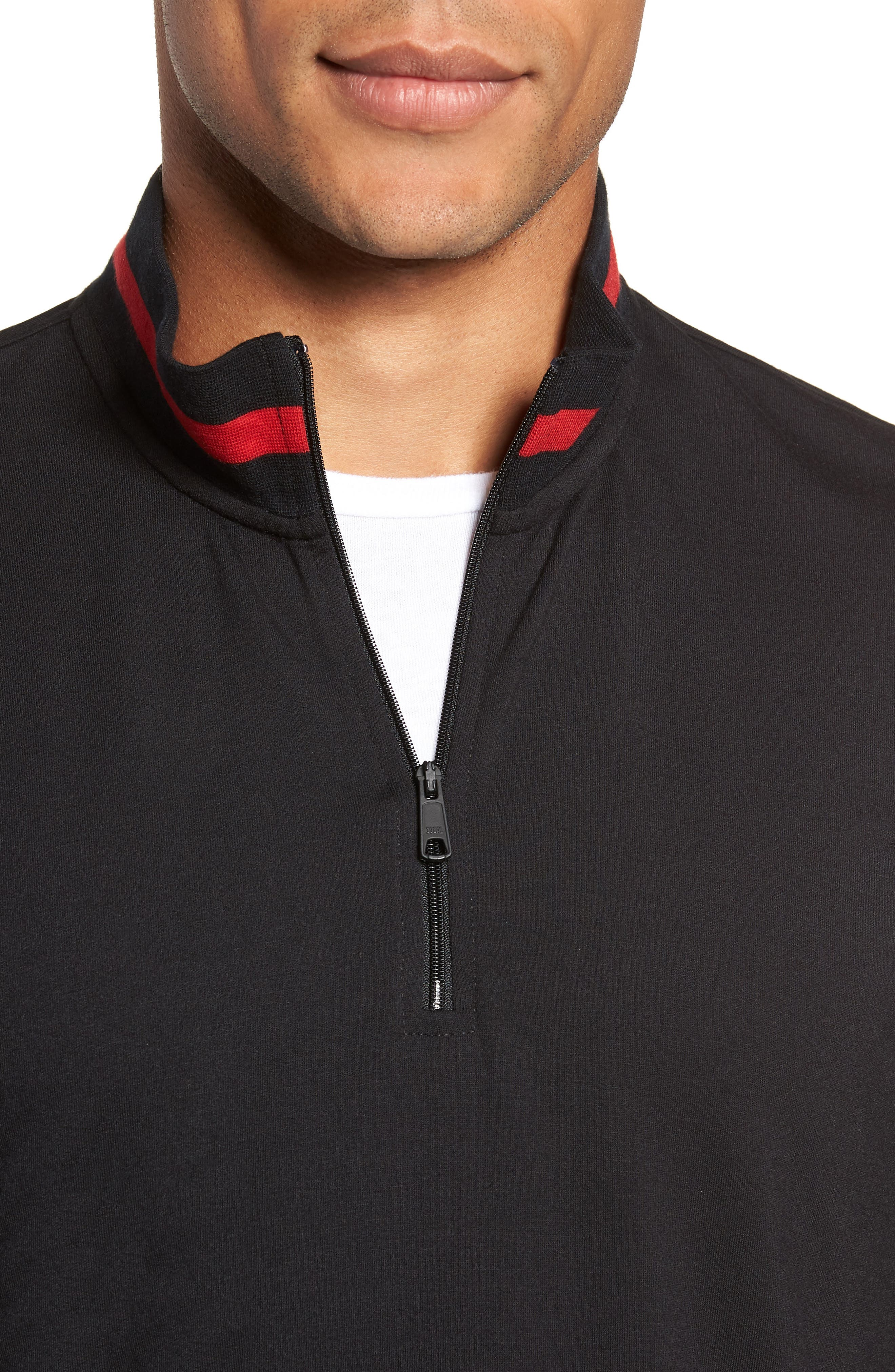 Half-Zip Pullover,                             Alternate thumbnail 4, color,                             POLO BLACK