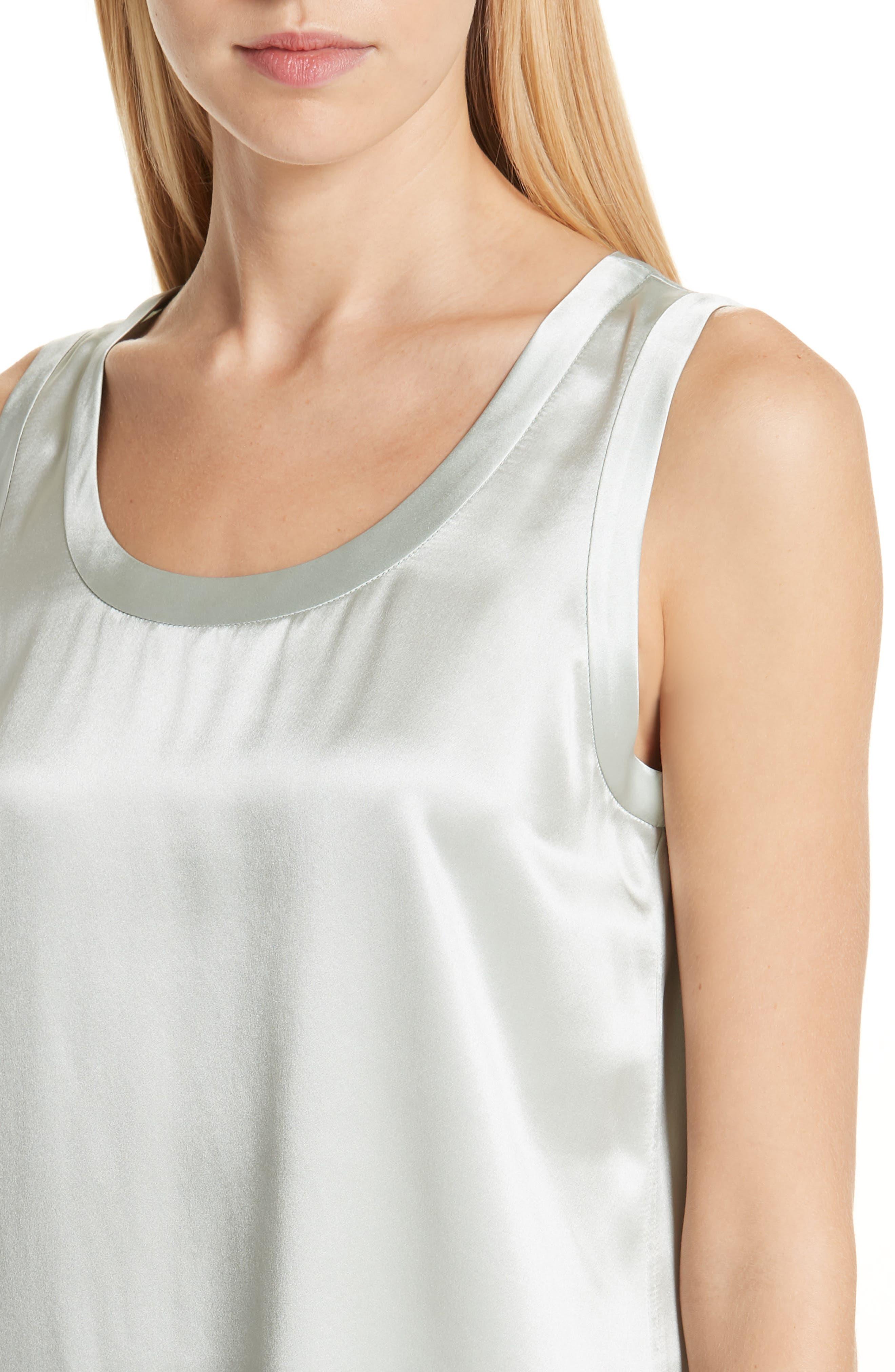 Perla Reversible Silk Blouse,                             Alternate thumbnail 6, color,                             302