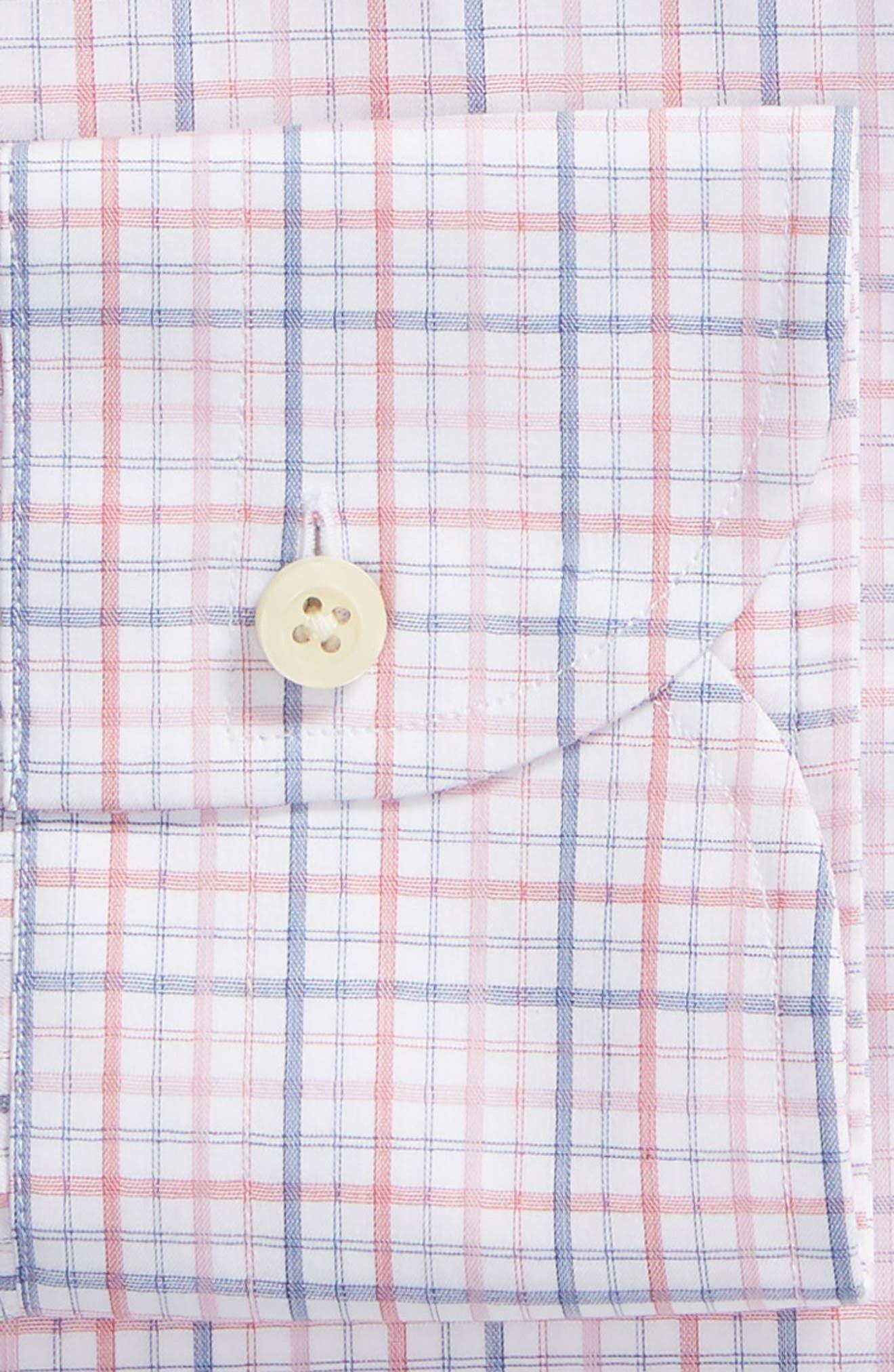 Drazin Trim Fit Check Dress Shirt,                             Alternate thumbnail 6, color,                             PINK