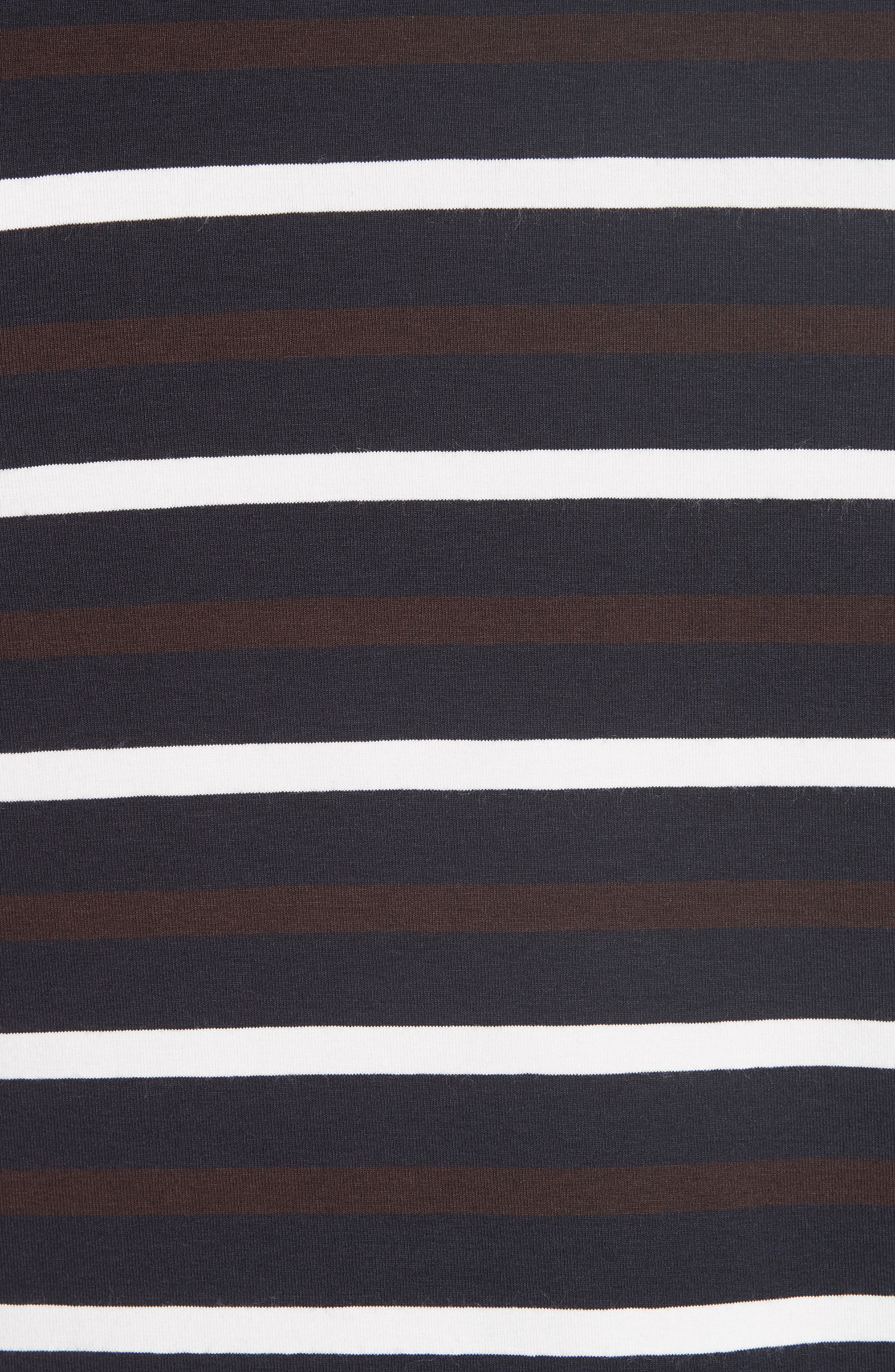 Technical Stripe Long Sleeve T-Shirt,                             Alternate thumbnail 5, color,                             BROWN