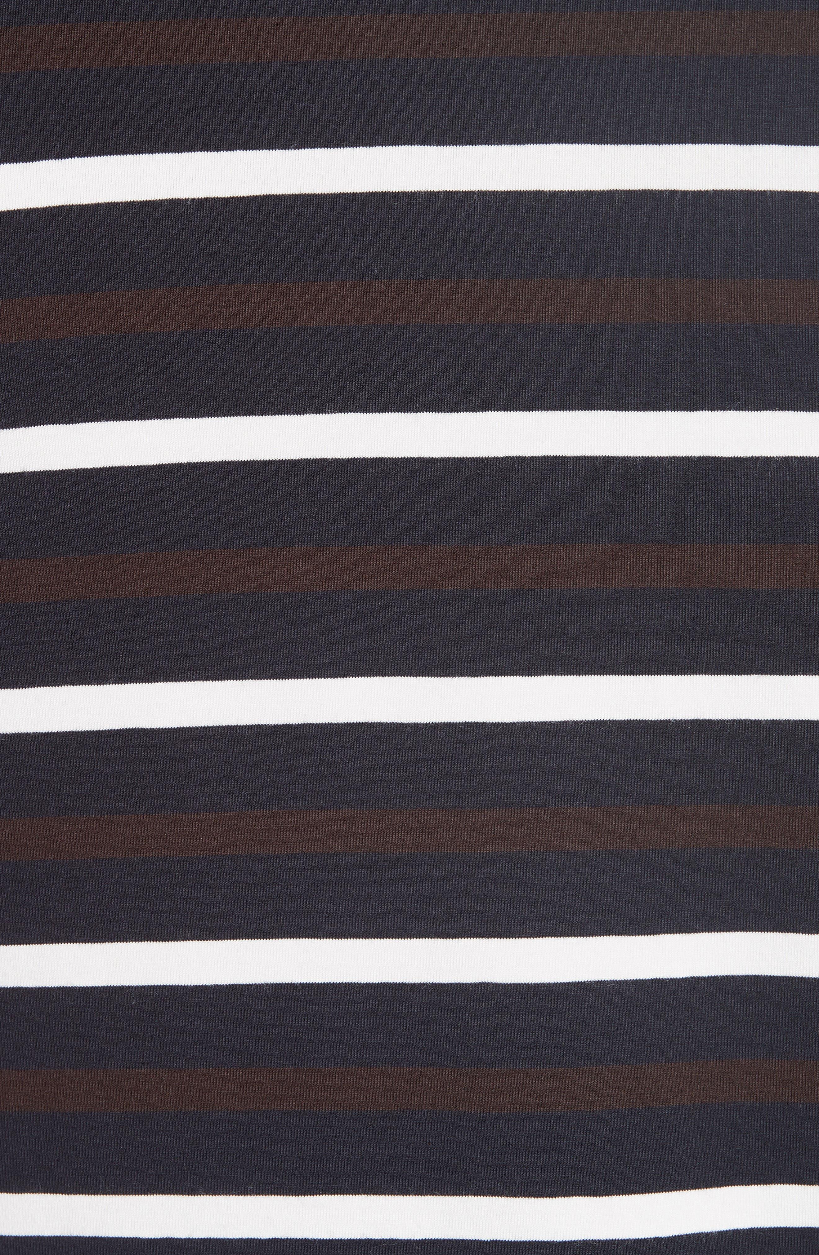 Technical Stripe Long Sleeve T-Shirt,                             Alternate thumbnail 5, color,                             200