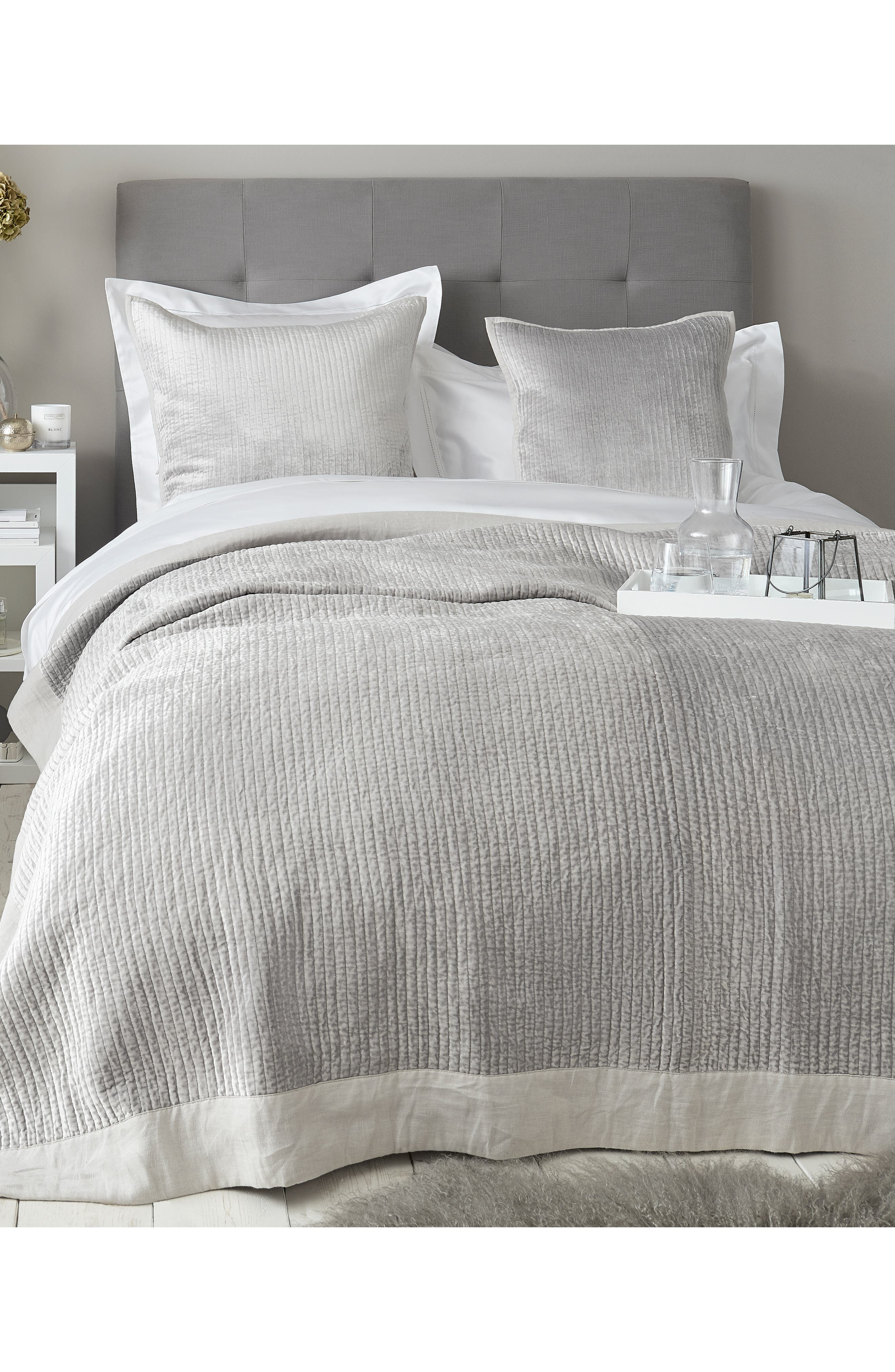 THE WHITE COMPANY,                             Vienne Quilt,                             Main thumbnail 1, color,                             SILVER