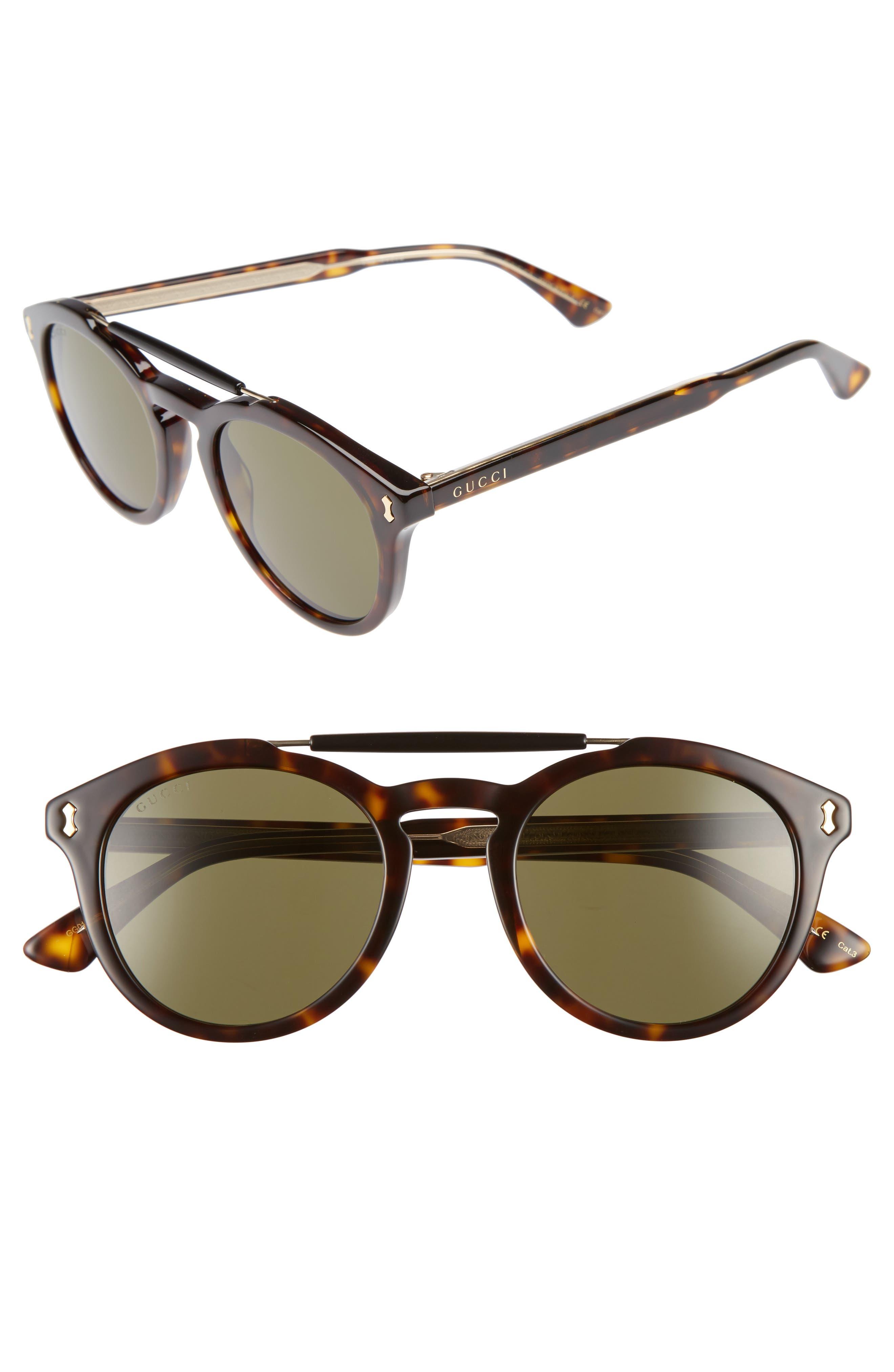 Vintage Pilot 50mm Sunglasses,                             Main thumbnail 2, color,