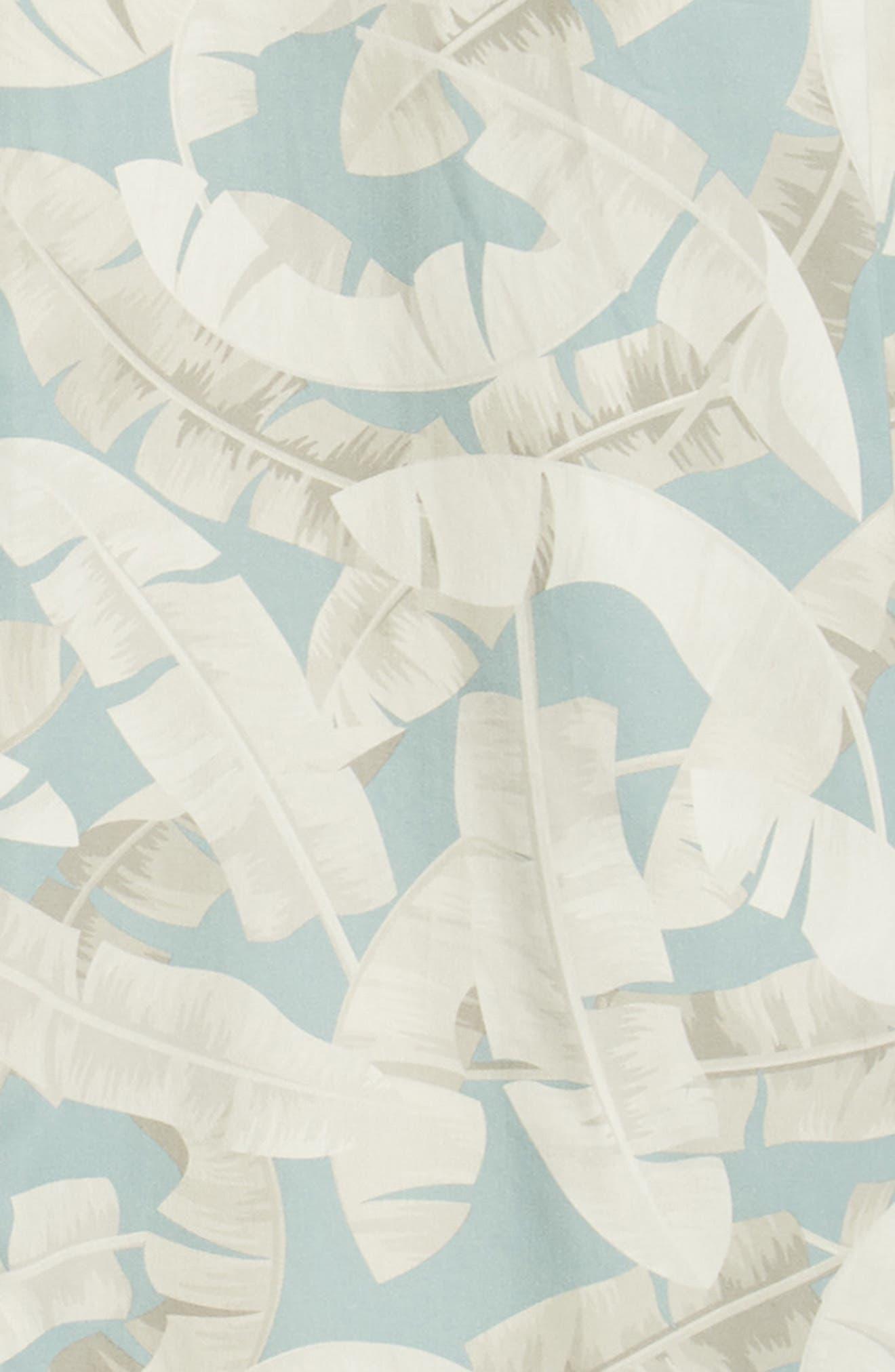 Ramsey Banana Leaf Print Shirt,                             Alternate thumbnail 6, color,                             BLUE