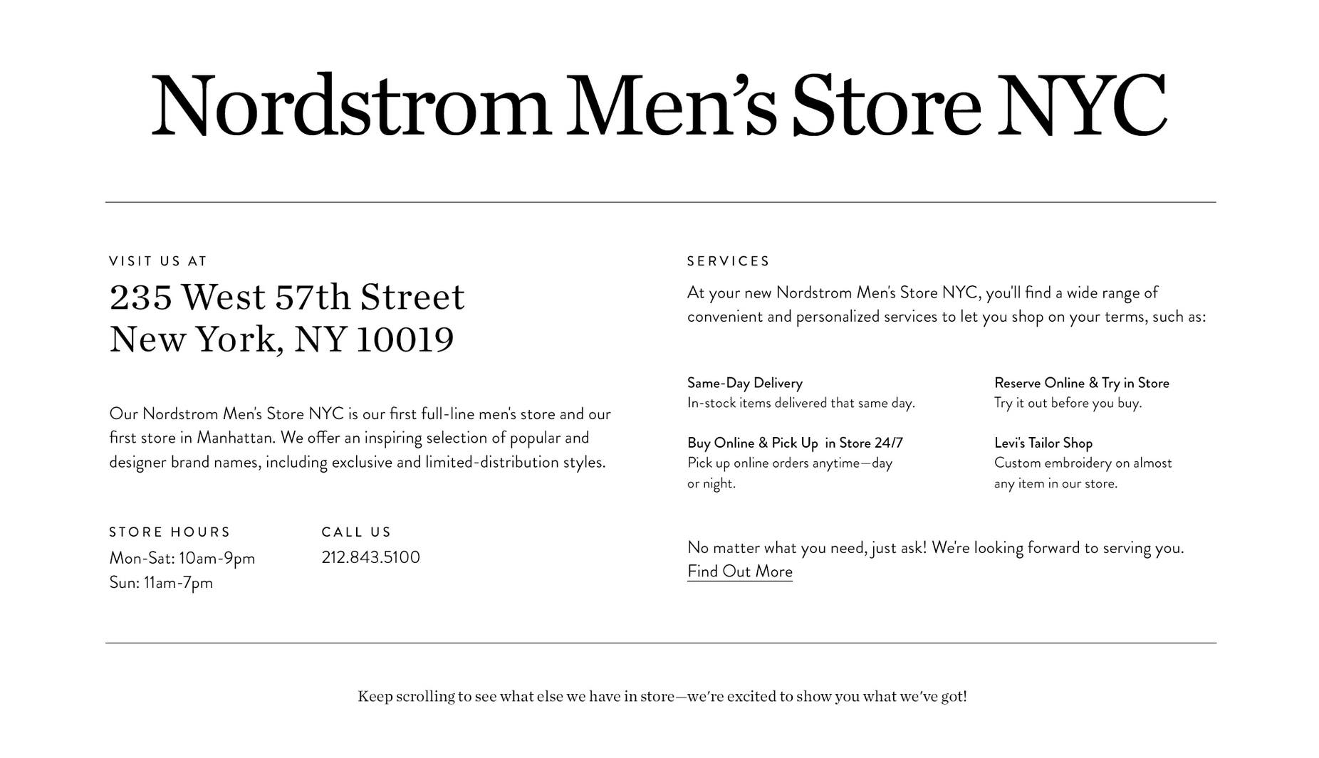 fc91e3bcb9306 Our Nordstrom Men s Store NYC is our first full-line men s store and our  first