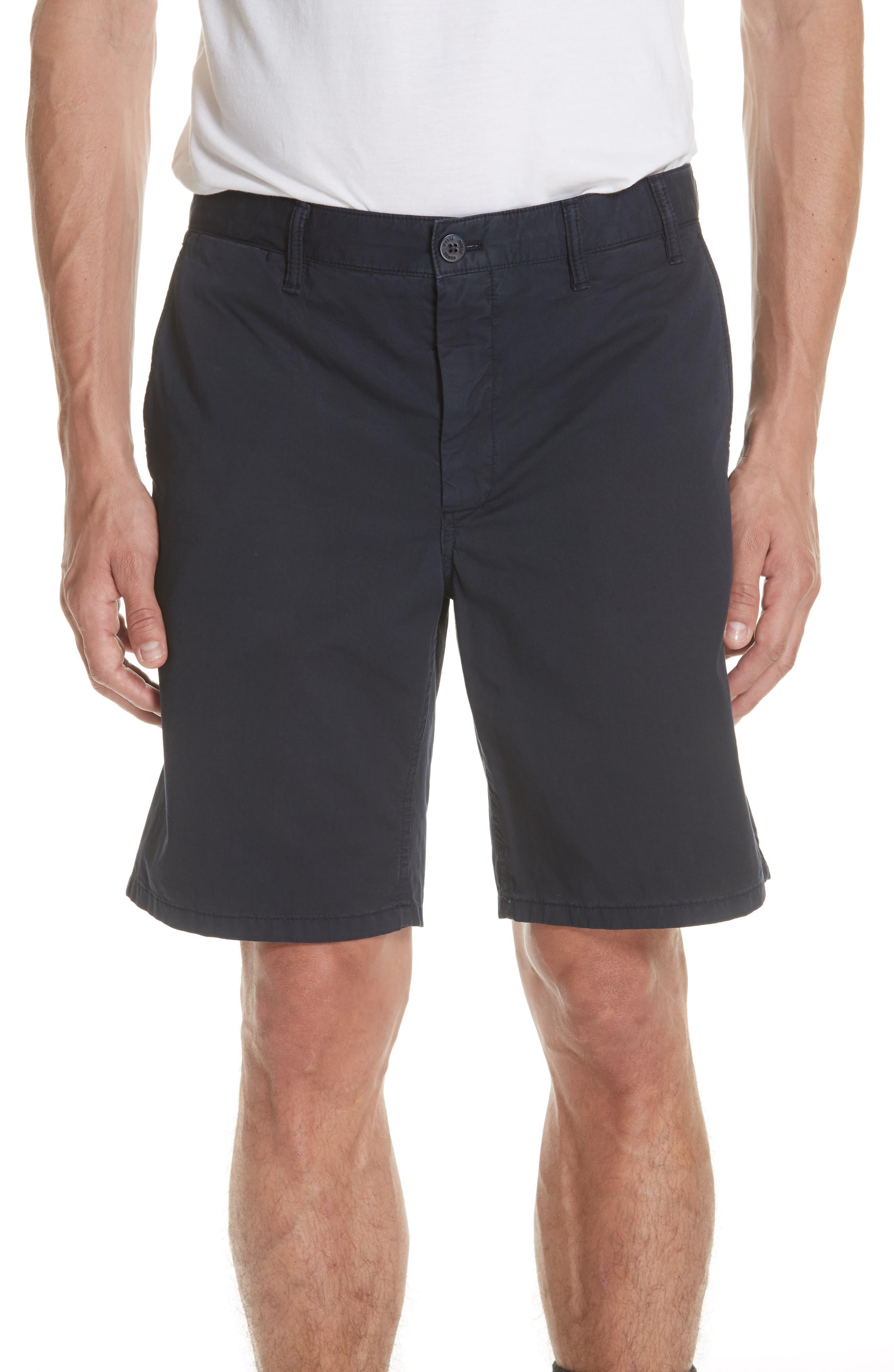 Aros Twill Shorts,                         Main,                         color, DARK NAVY