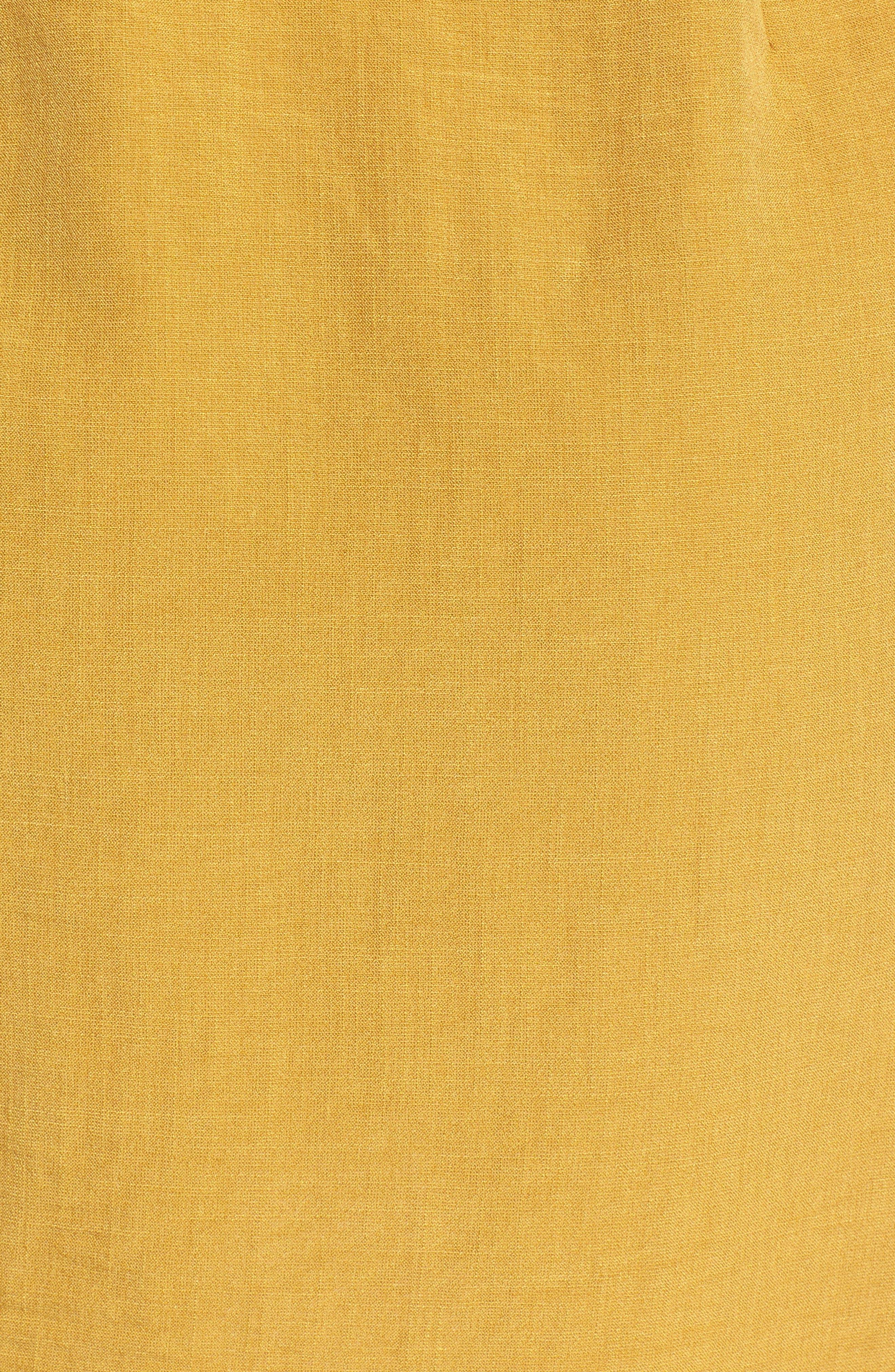 Poppy Flutter Sleeve Tie Dress,                             Alternate thumbnail 5, color,