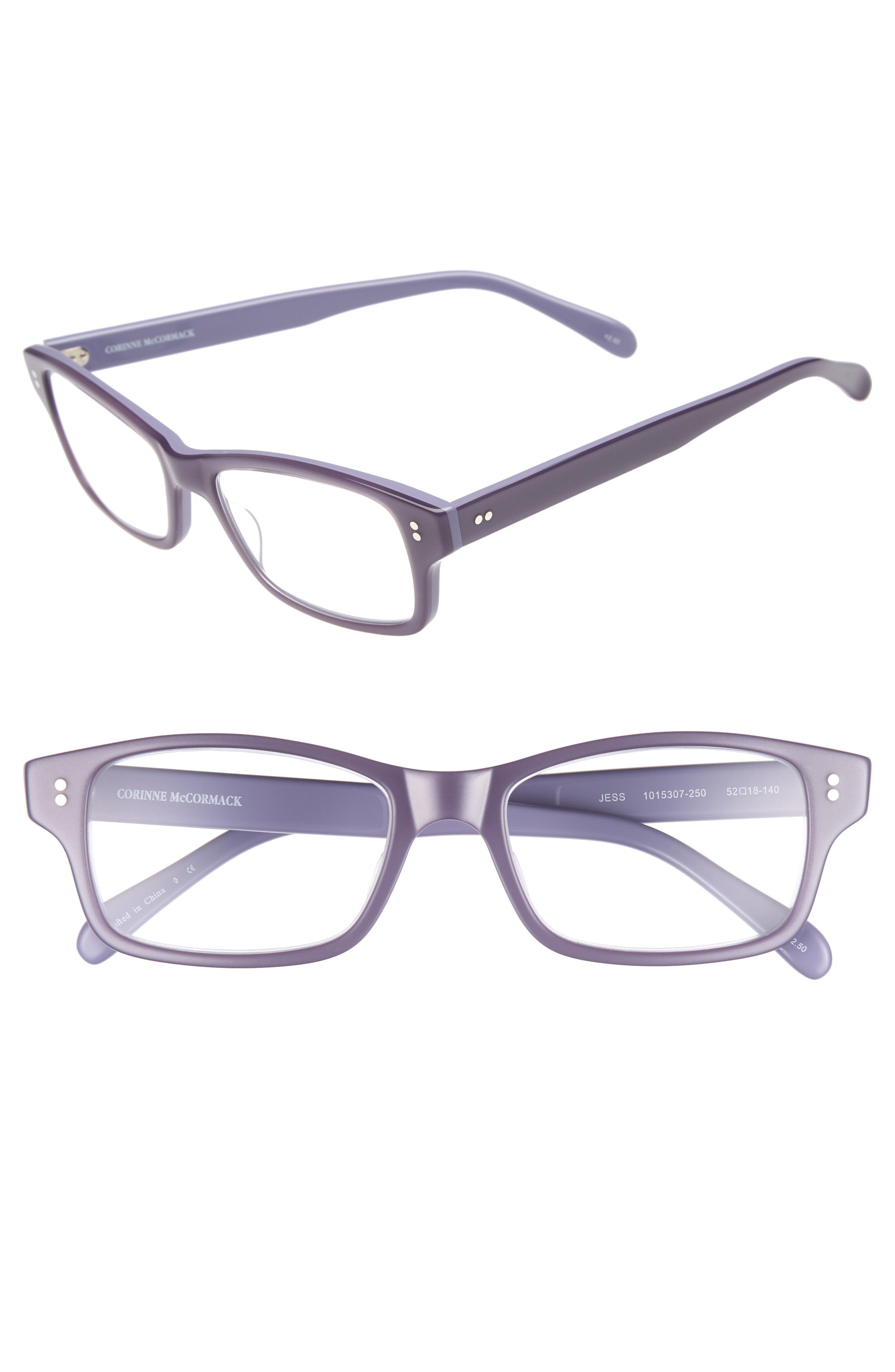 'Jess' 52mm Reading Glasses,                             Main thumbnail 1, color,                             VIOLET