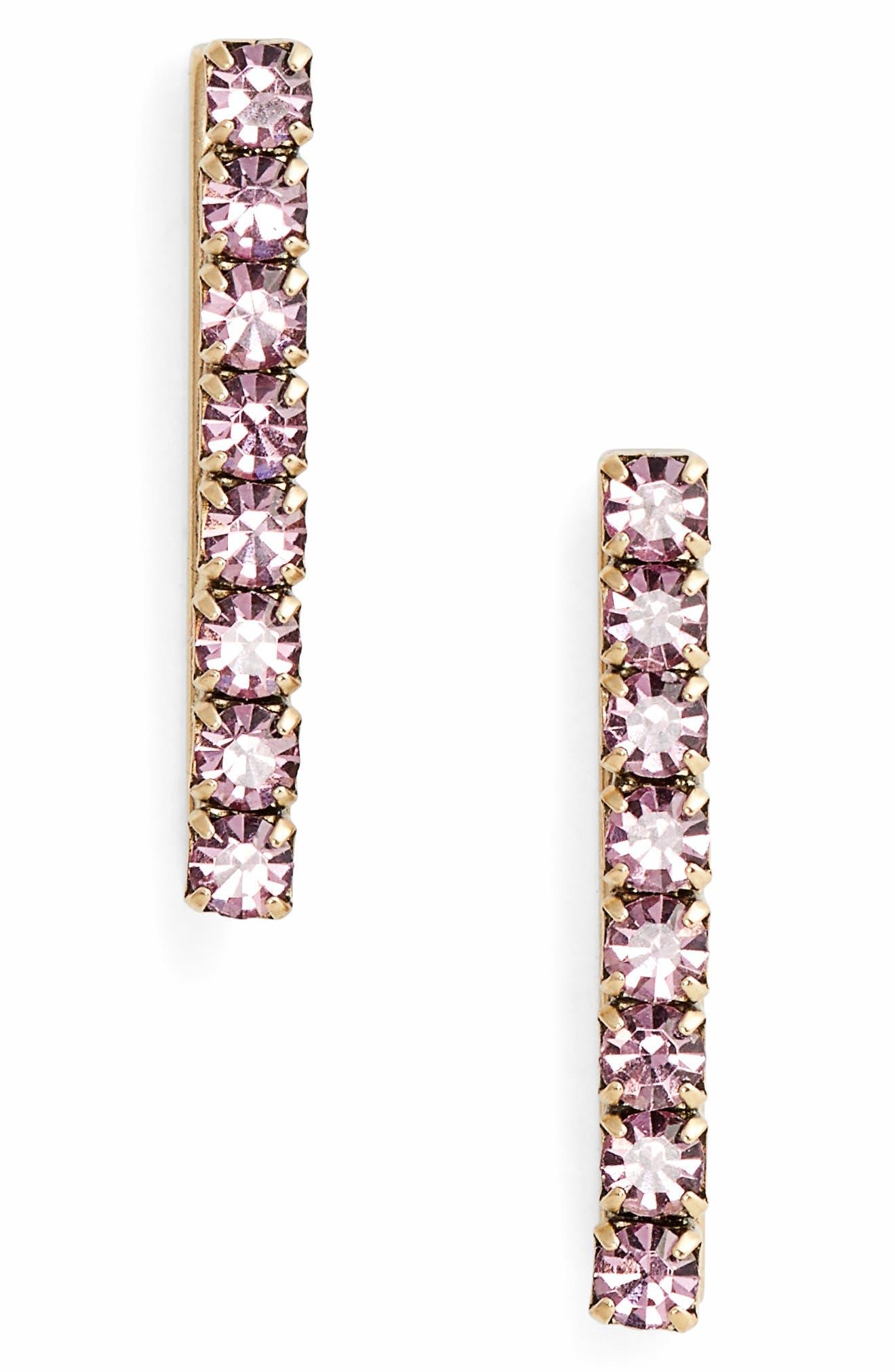 Paige Bar Stud Earrings,                             Main thumbnail 4, color,