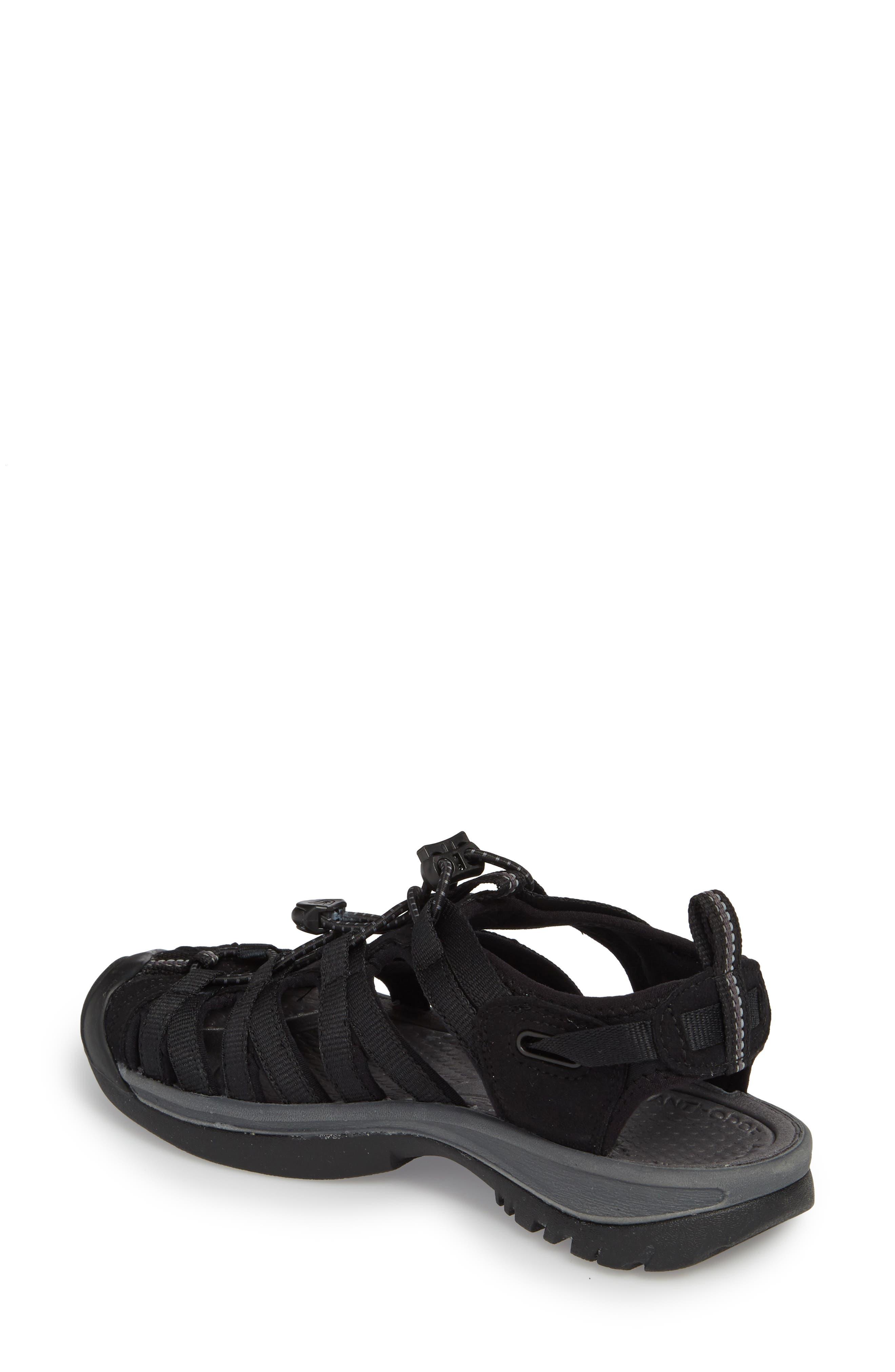 'Whisper' Water Friendly Sport Sandal,                             Alternate thumbnail 2, color,                             BLACK/ MAGNET