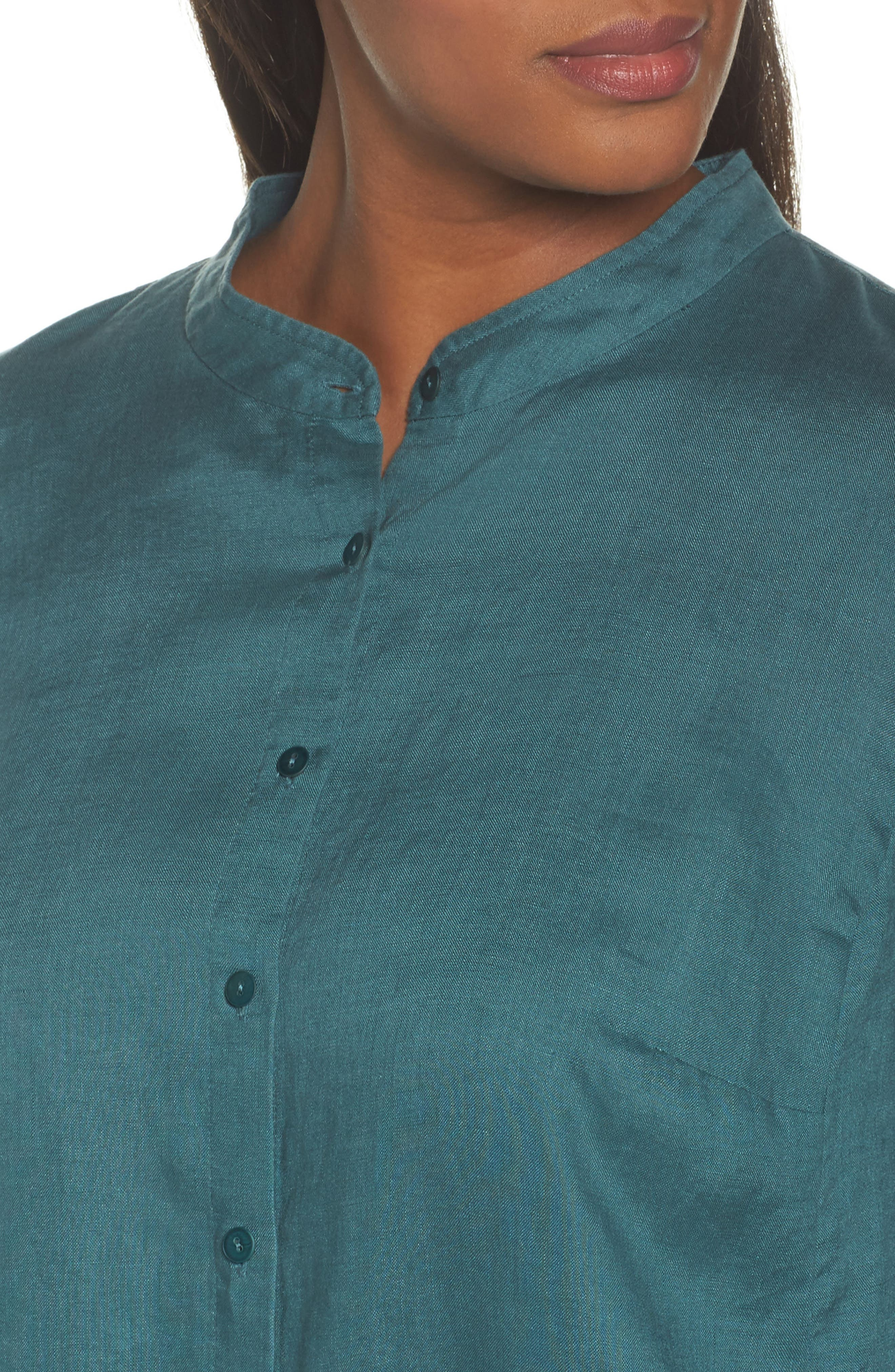 Organic Linen Tunic Shirt,                             Alternate thumbnail 11, color,