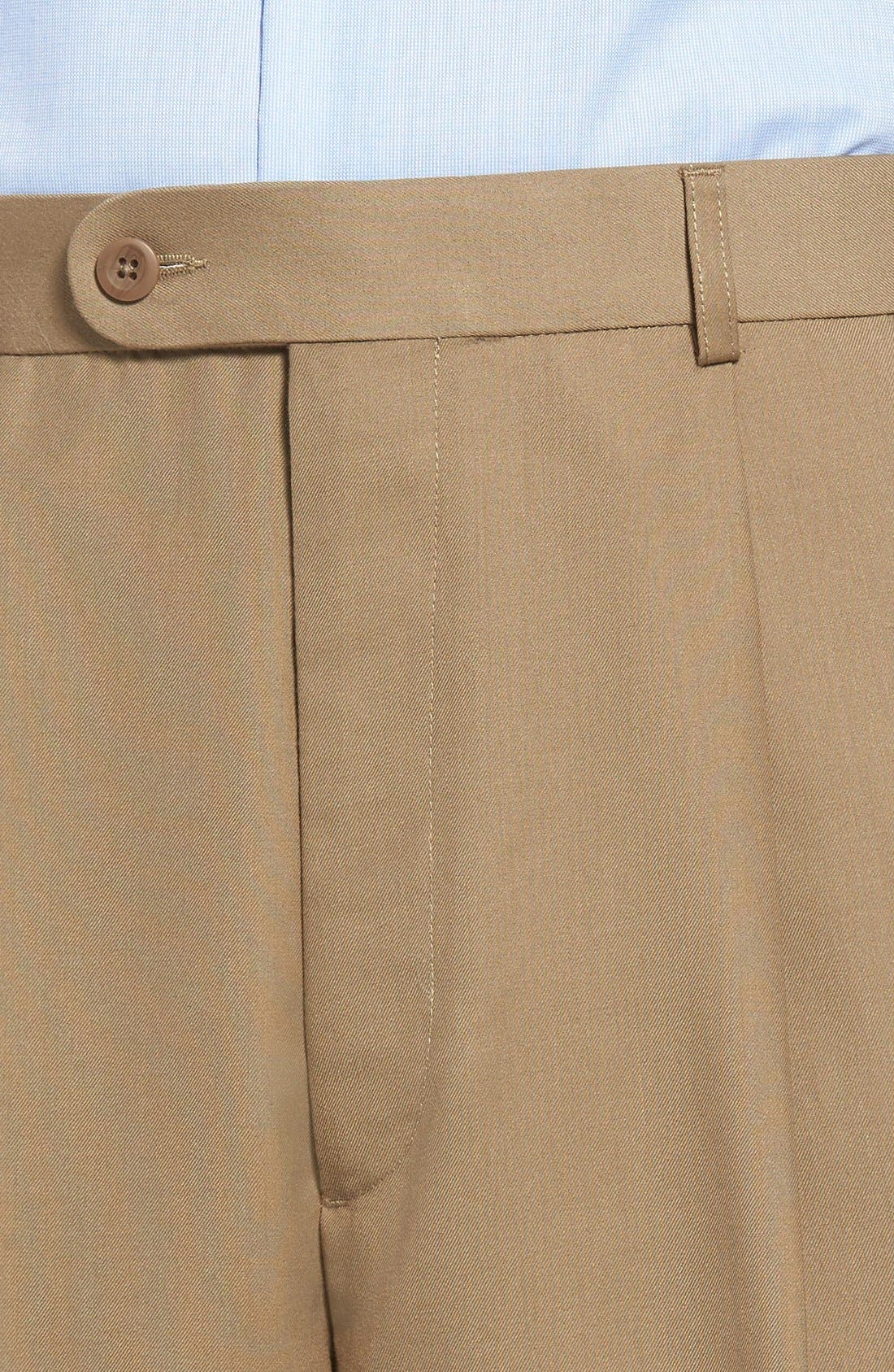 Pleated Microfiber Dress Pants,                             Alternate thumbnail 21, color,