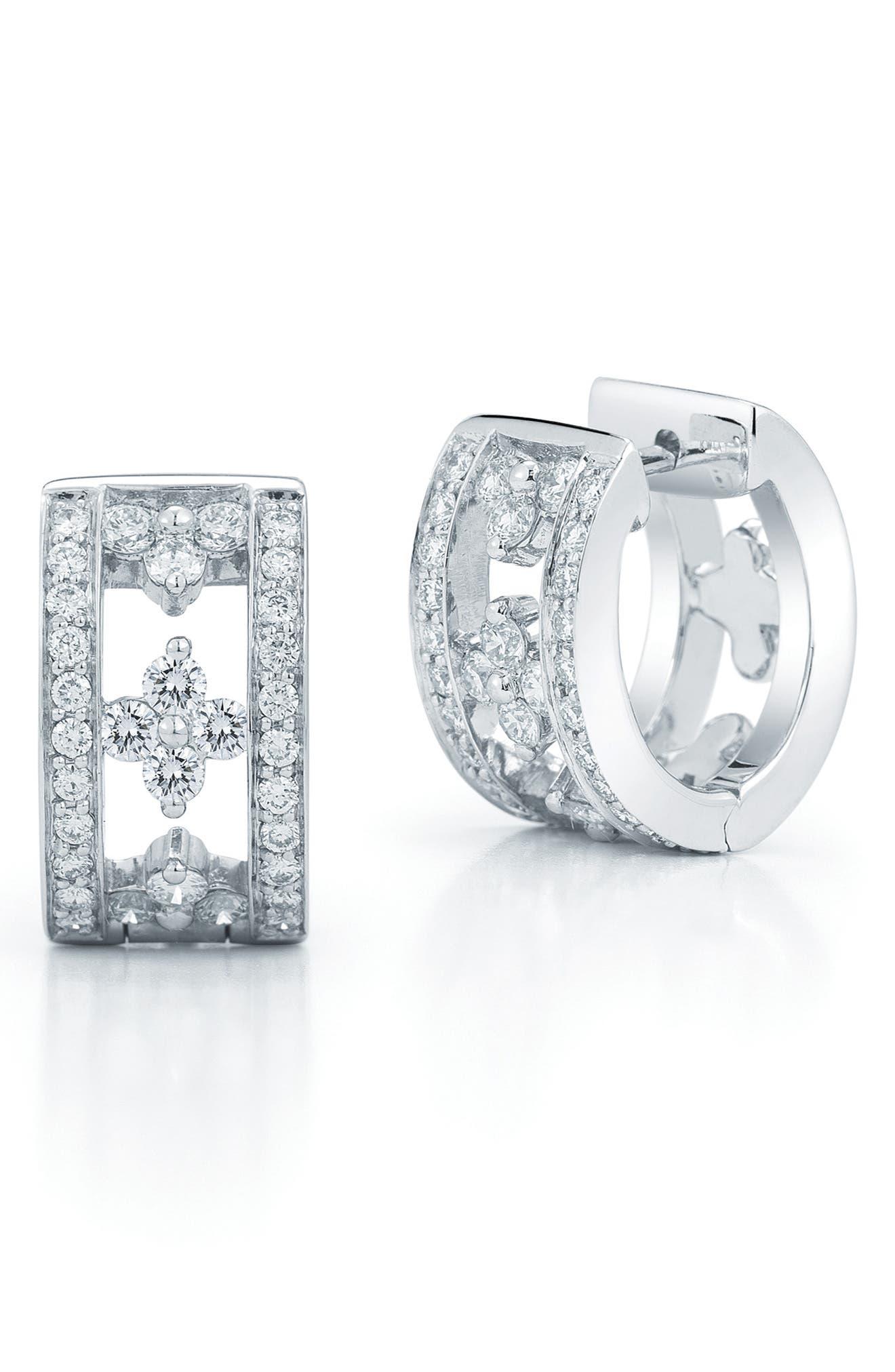KWIAT Jasmine Diamond Huggie Earrings in Brown